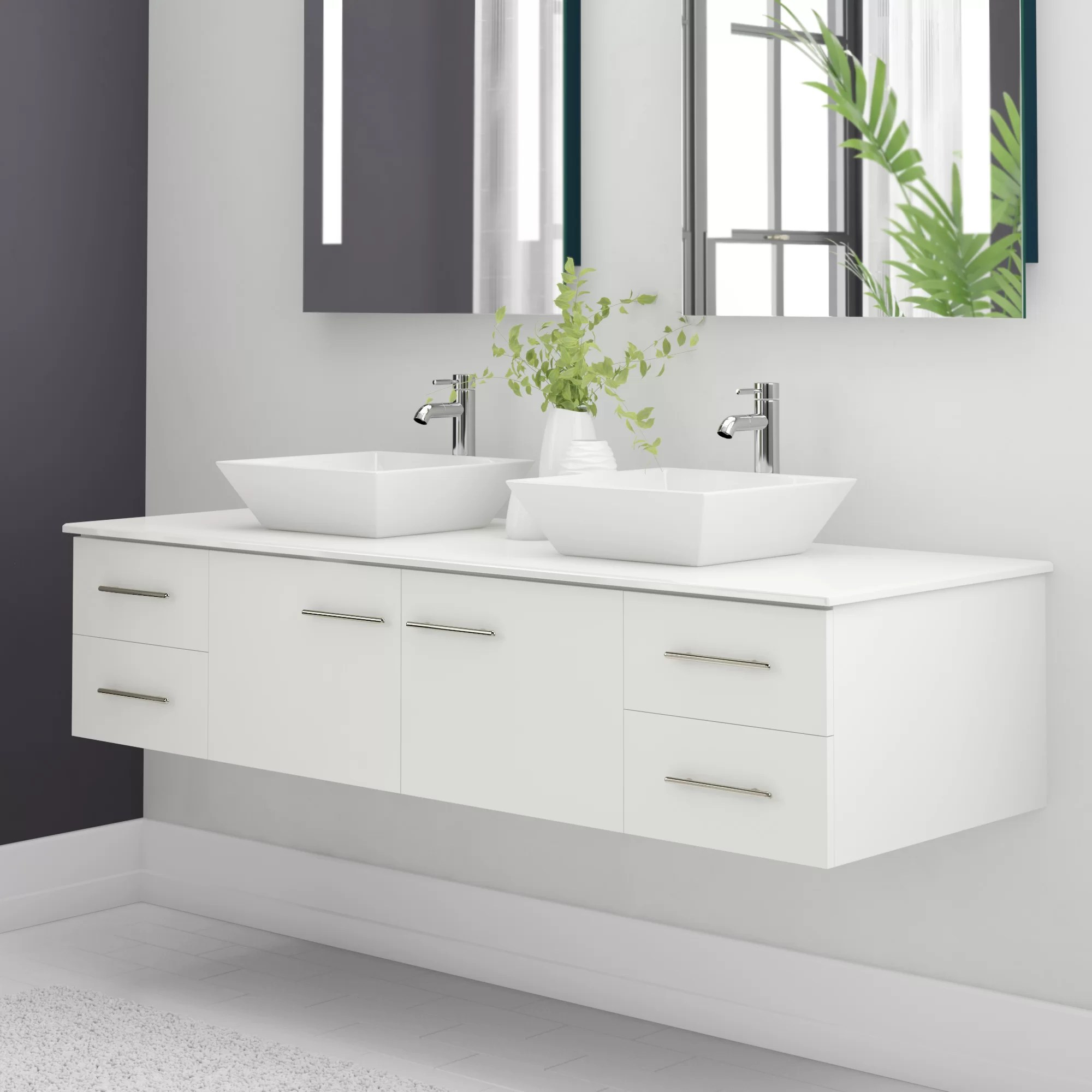 Wall Mount Double Vanity Vinit 60
