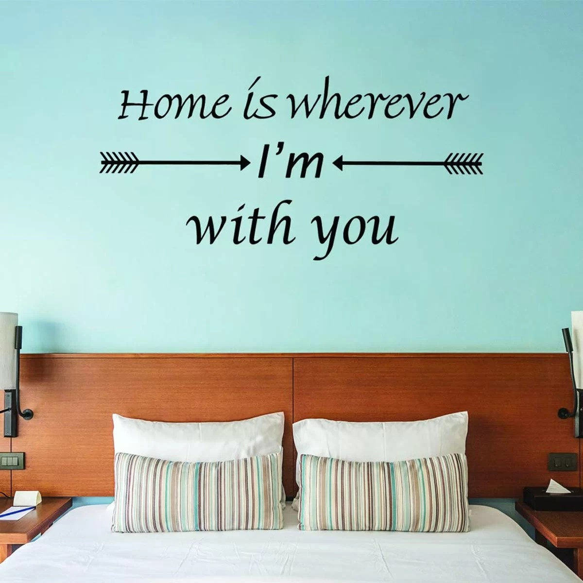 Union Rustic Home Is Wherever I M You Vinyl Love Quotes Wall Decal Wayfair