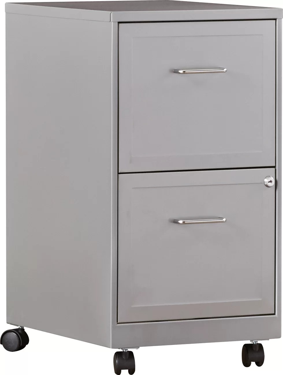 Rolling Filing Cabinets Forest 2 Drawer Mobile Vertical Filing Cabinet