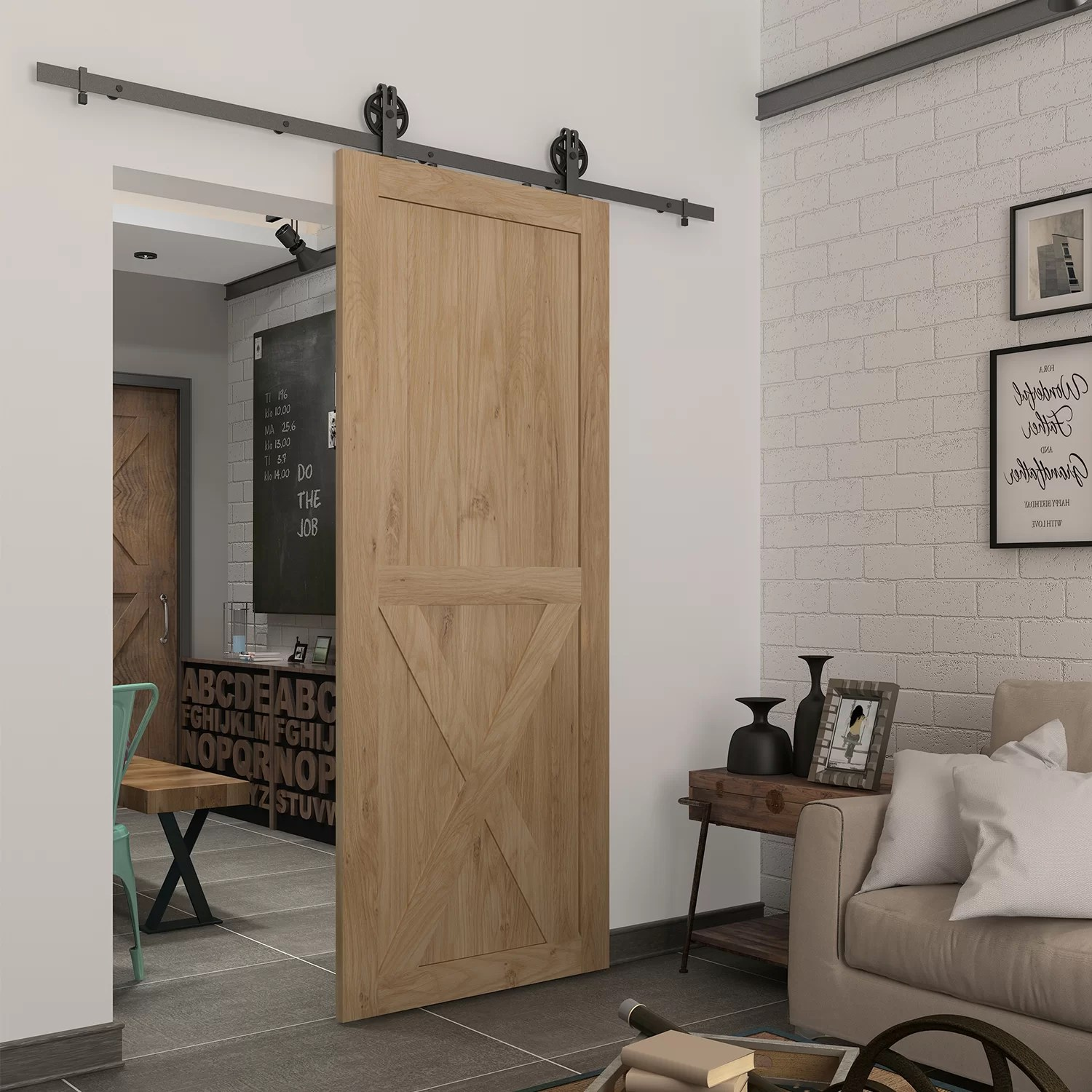 Colonial Elegance Paneled Wood Unfinished Half Cross Barn Door Without Installation Hardware Kit Reviews Wayfair