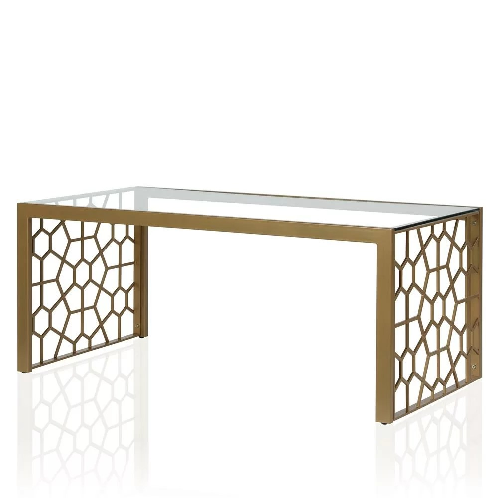 But Table Verre Cosmoliving By Cosmopolitan Juliette Glass Top Coffee Table