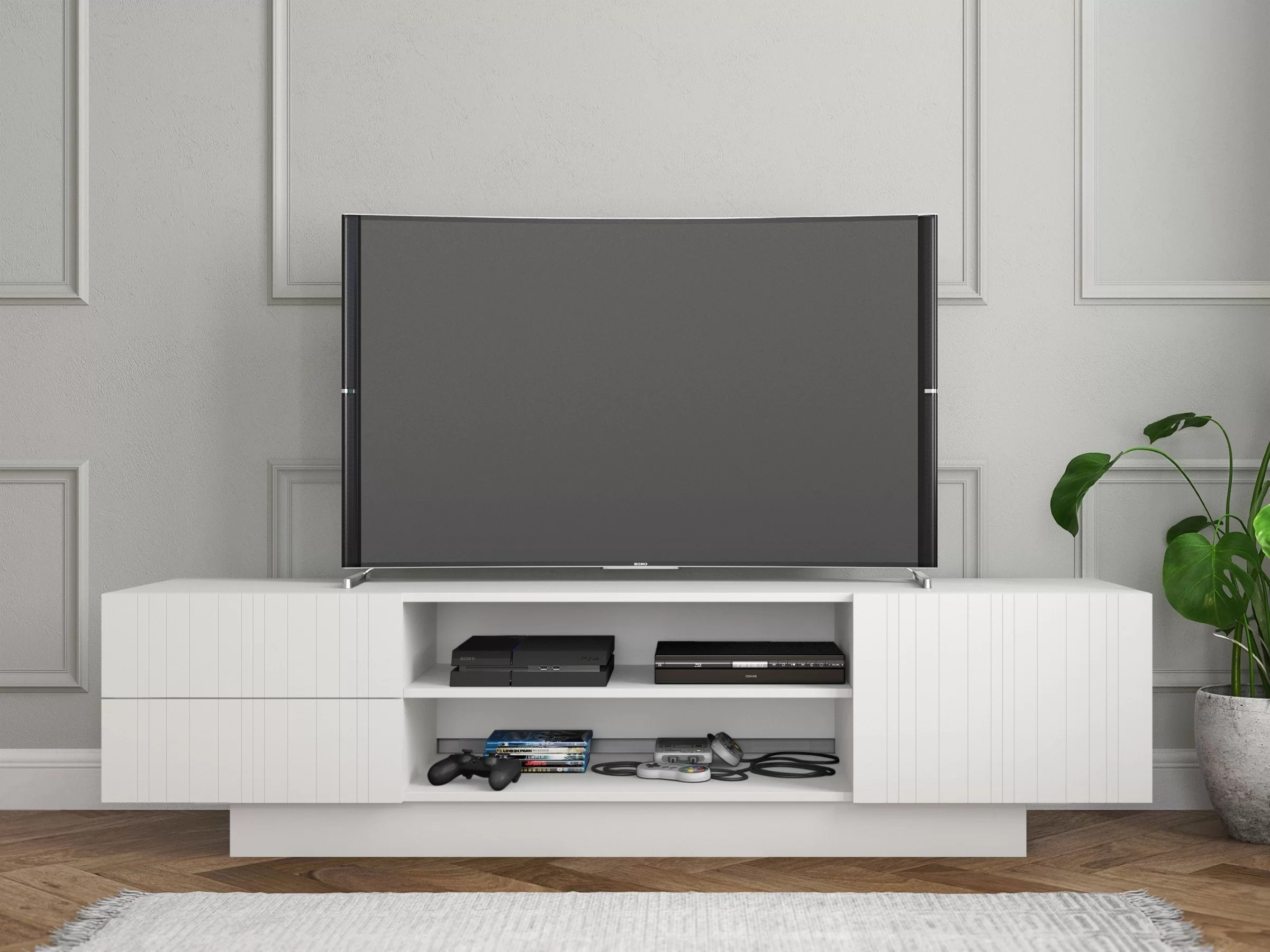 Meuble Tv Living Orren Ellis Iberia Tv Stand Reviews Wayfair Ca