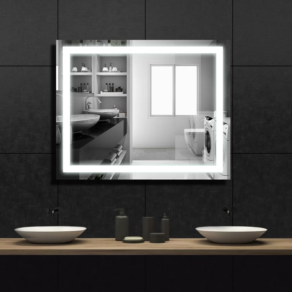 Orren Ellis Moreauville Led Lighted Bathroom Mirror Reviews Wayfair