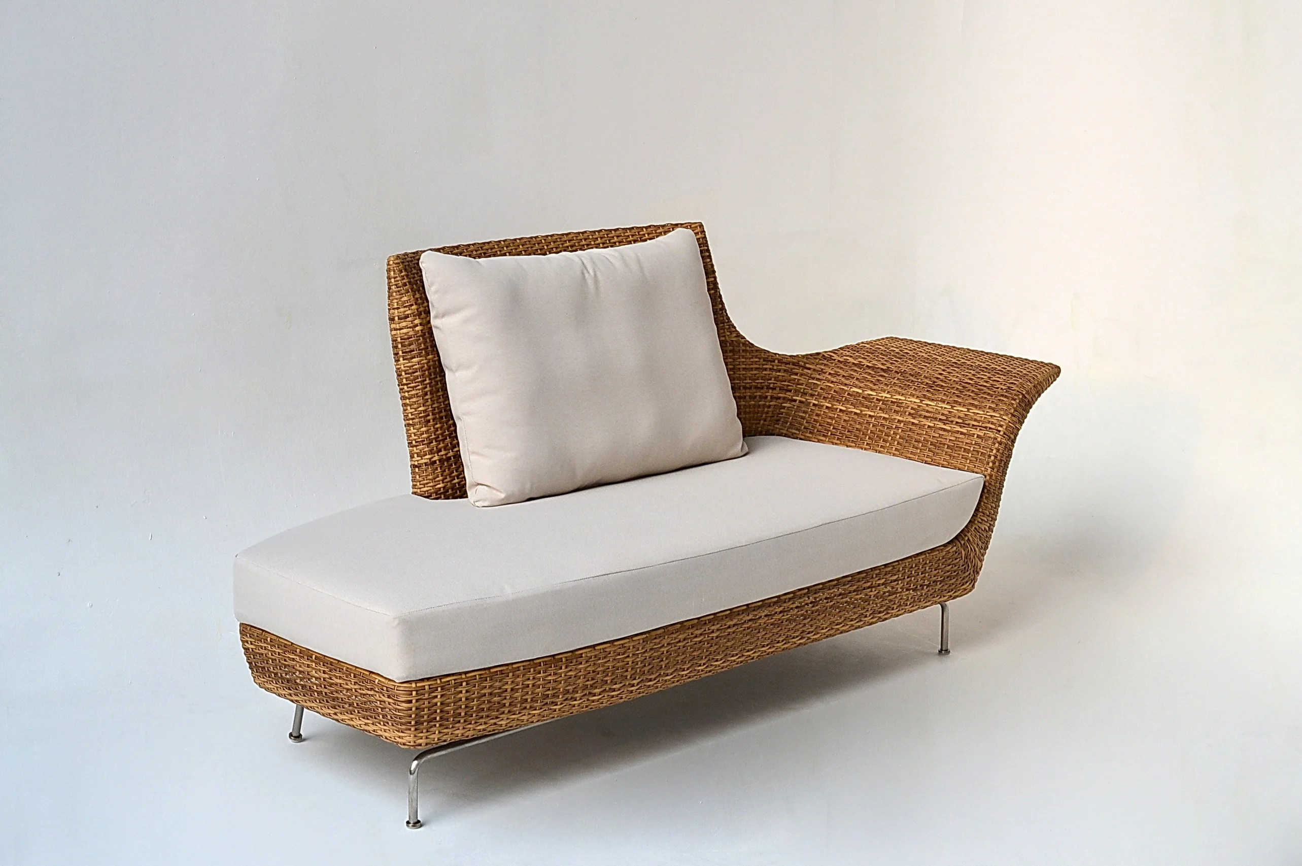 Recamiere Rattan Ates Recamiere Patio Sofa With Cushions