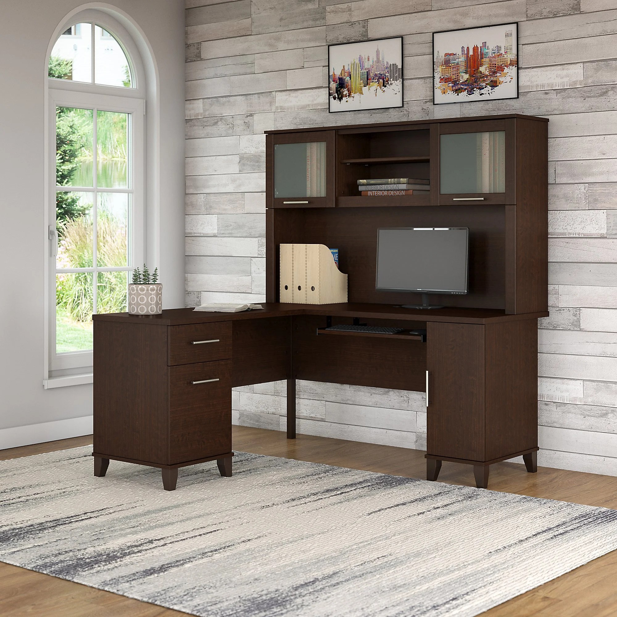 Executive L Shaped Desk Kittle Somerset L Shaped Executive Desk With Hutch