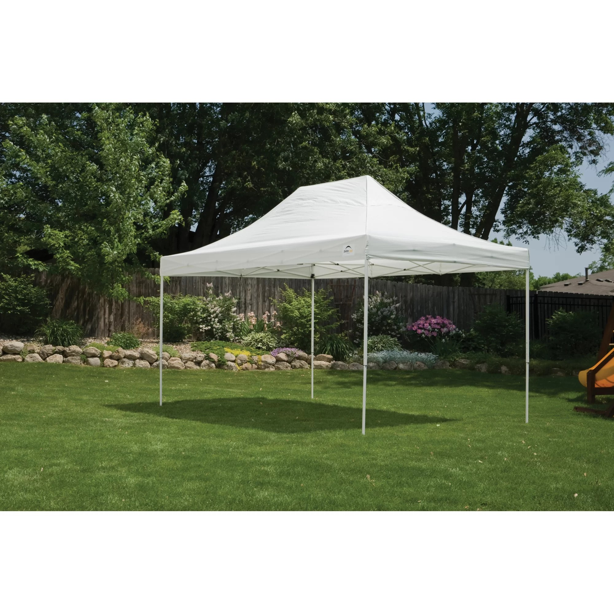 Pop Up Canopy 10 Ft W X 15 Ft D Steel Pop Up Canopy