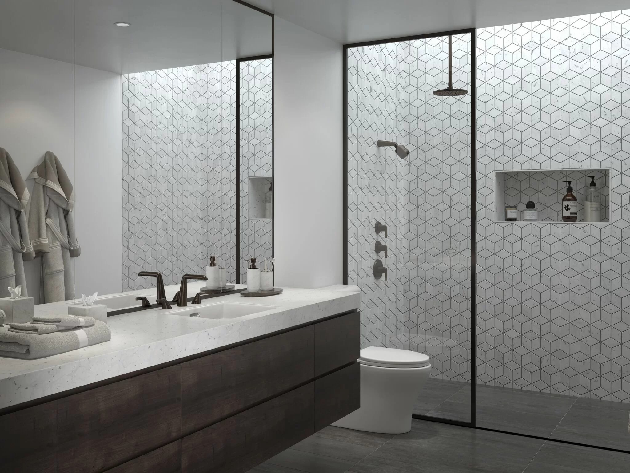 14 Simply Stunning Bathroom Shower Ideas With Photos Wayfair