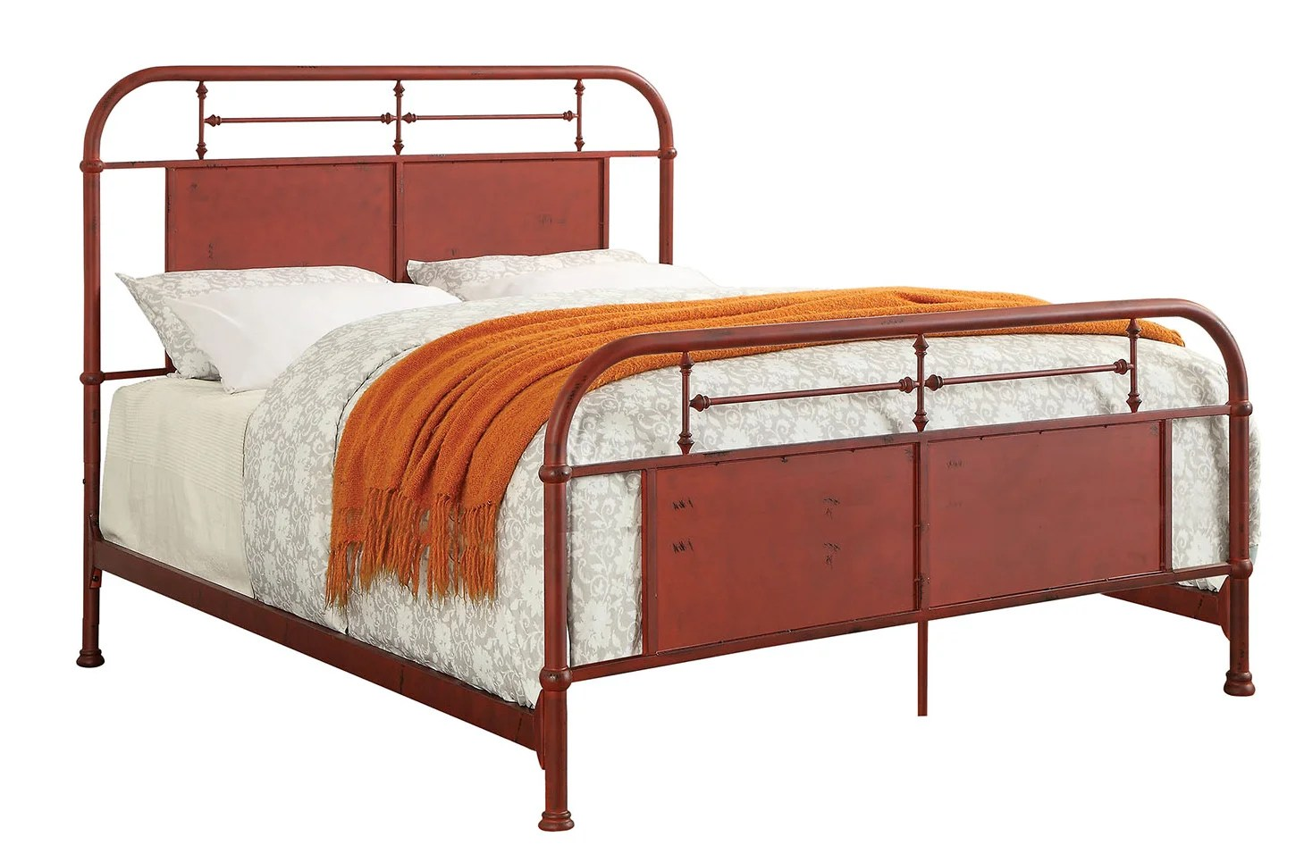 Loon Peak Bertita Industrial California King Platform Bed Wayfair