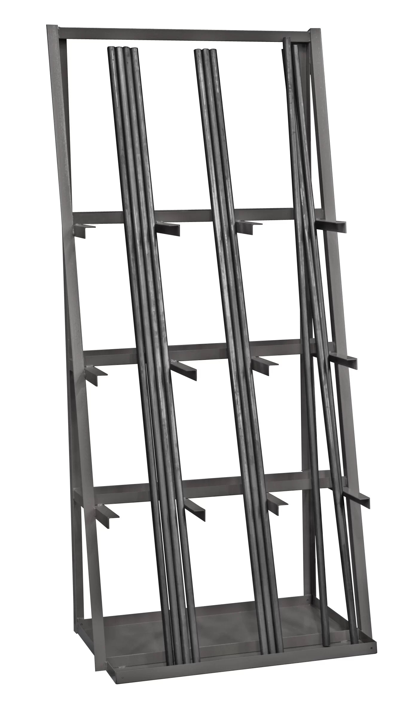 Storage Racks 14 Gauge Steel Vertical Long Parts Storage Rack