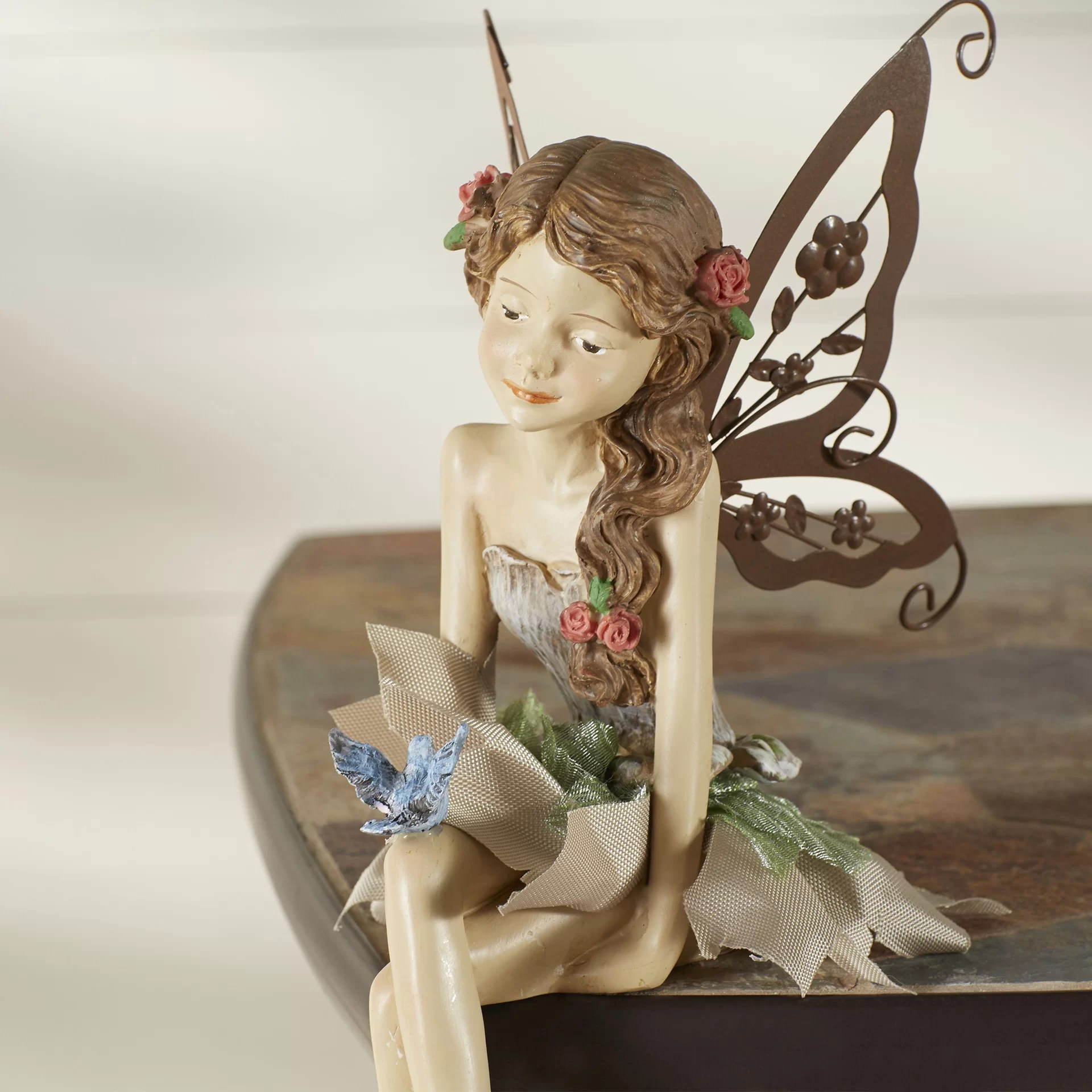 Faerie Statues Fannie The Fairy Sitting Statue