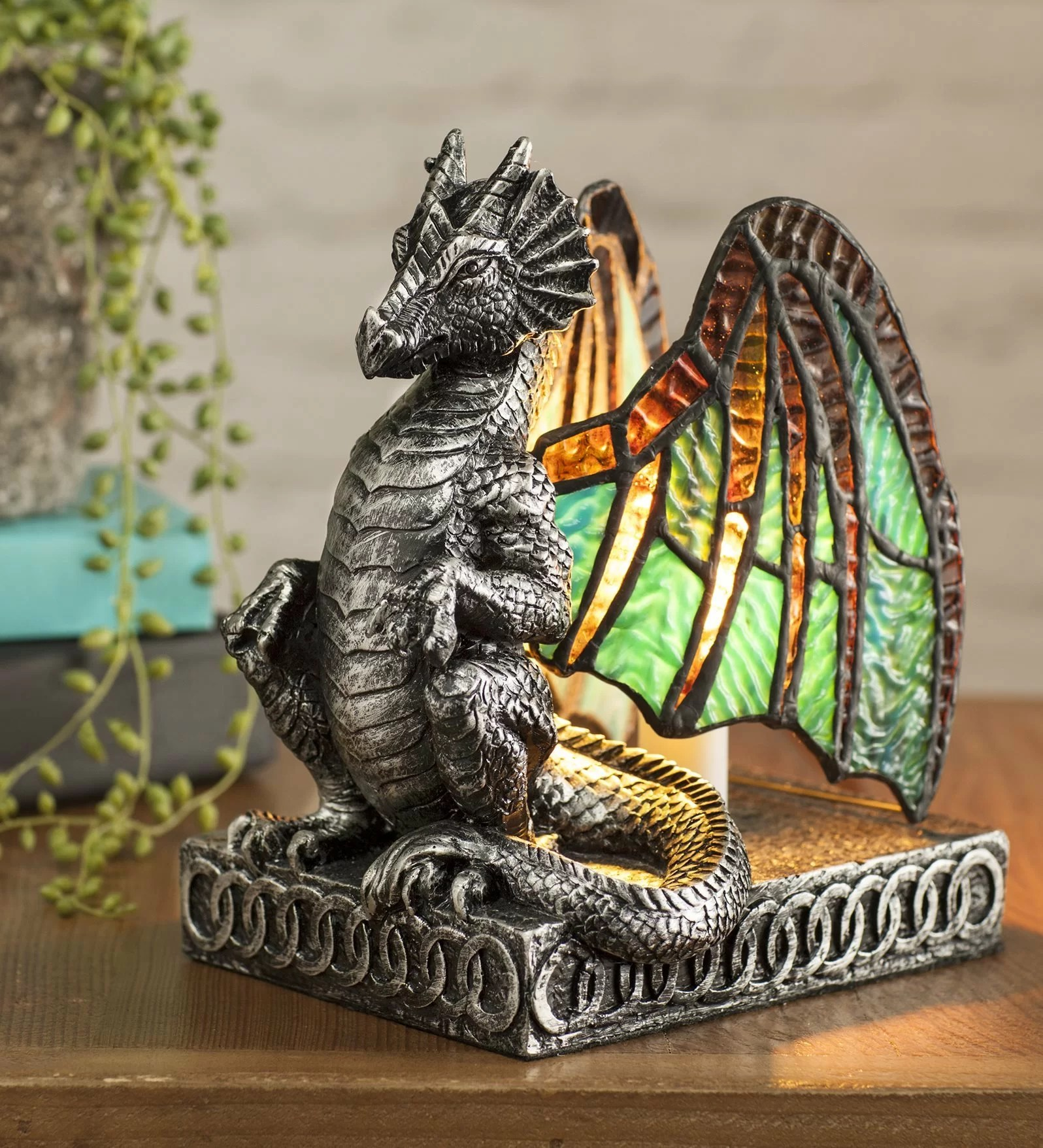Dragon Lamps For Sale Lighted Stained Glass Dragon 9