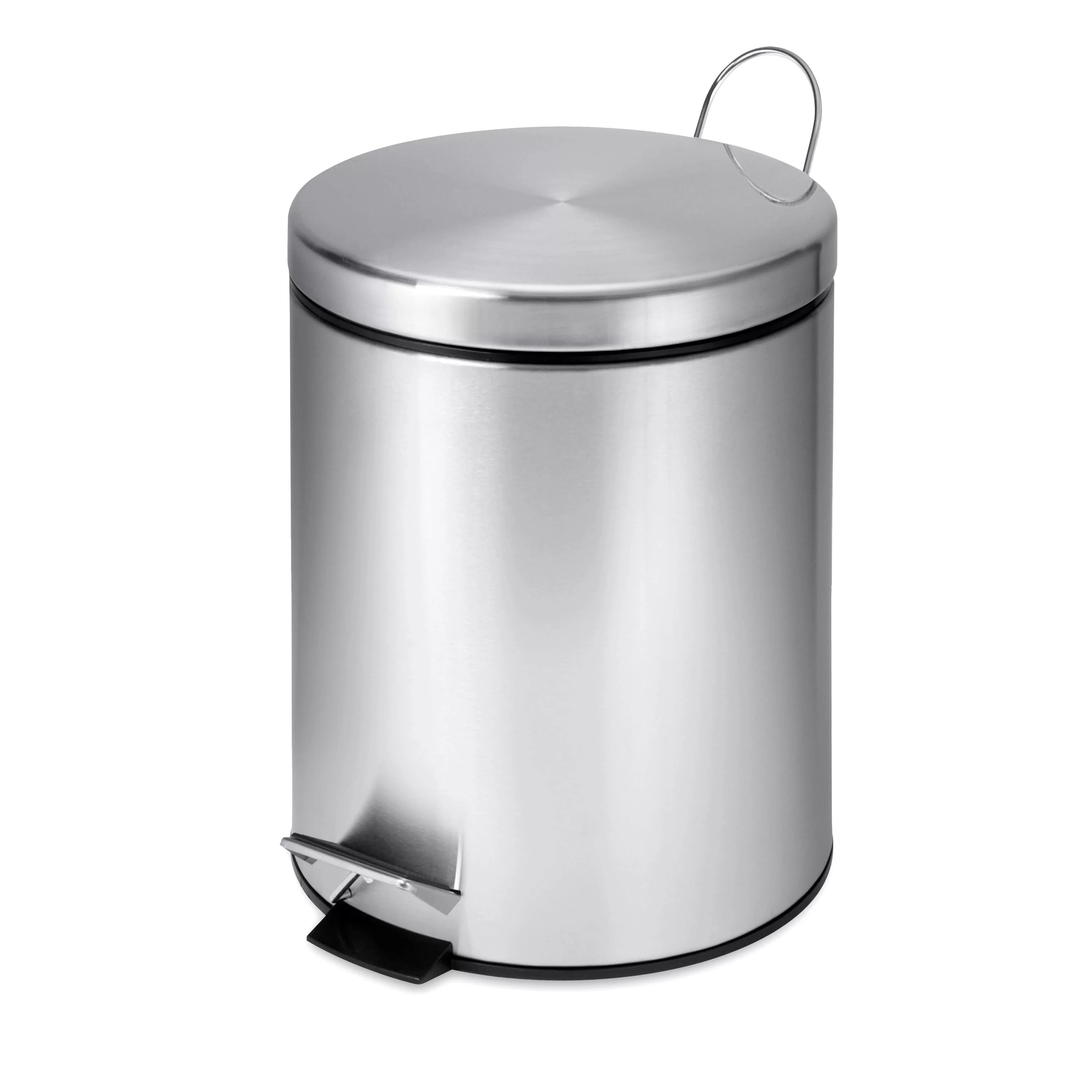 Elegant Trash Can Stainless Steel 1 32 Gallon Step On Trash Can