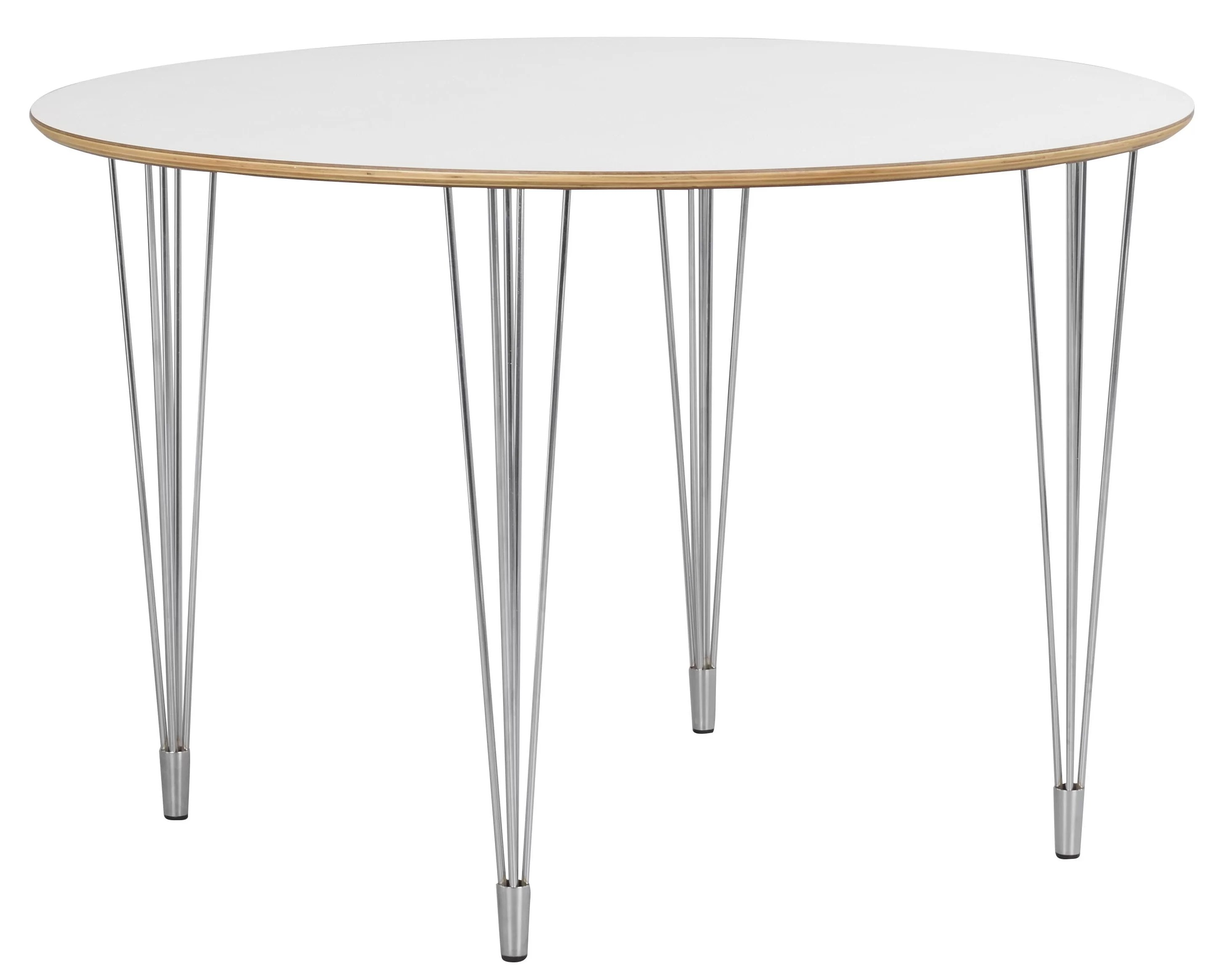 Hairpin Legs Couchtisch Fusion Round Hairpin Leg Dining Table