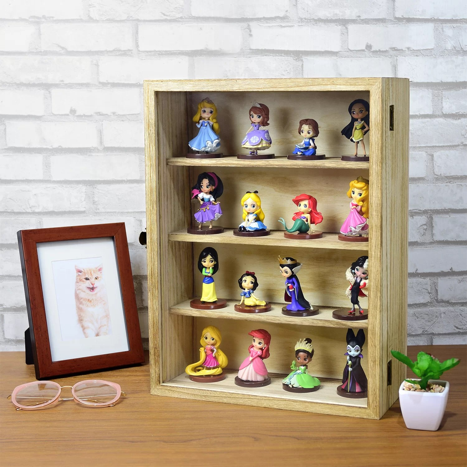 Wall Mounted Display Case Wall Mounted Collectible Jewelry Display Case