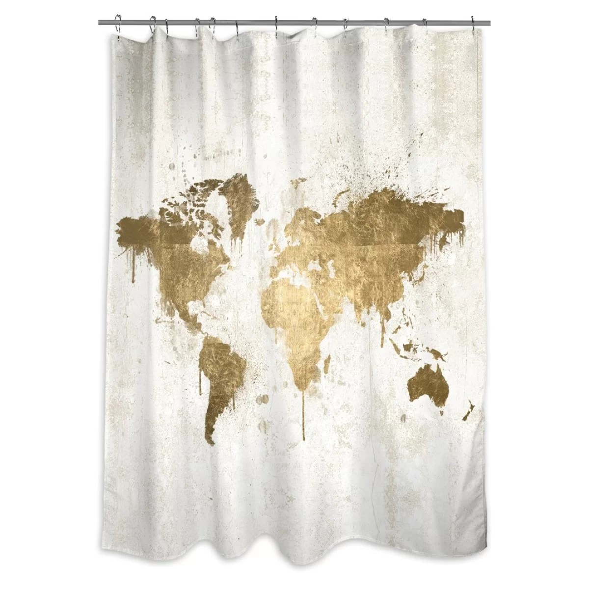 Usa Shower Curtain Everalda Mapamundi Single Shower Curtain