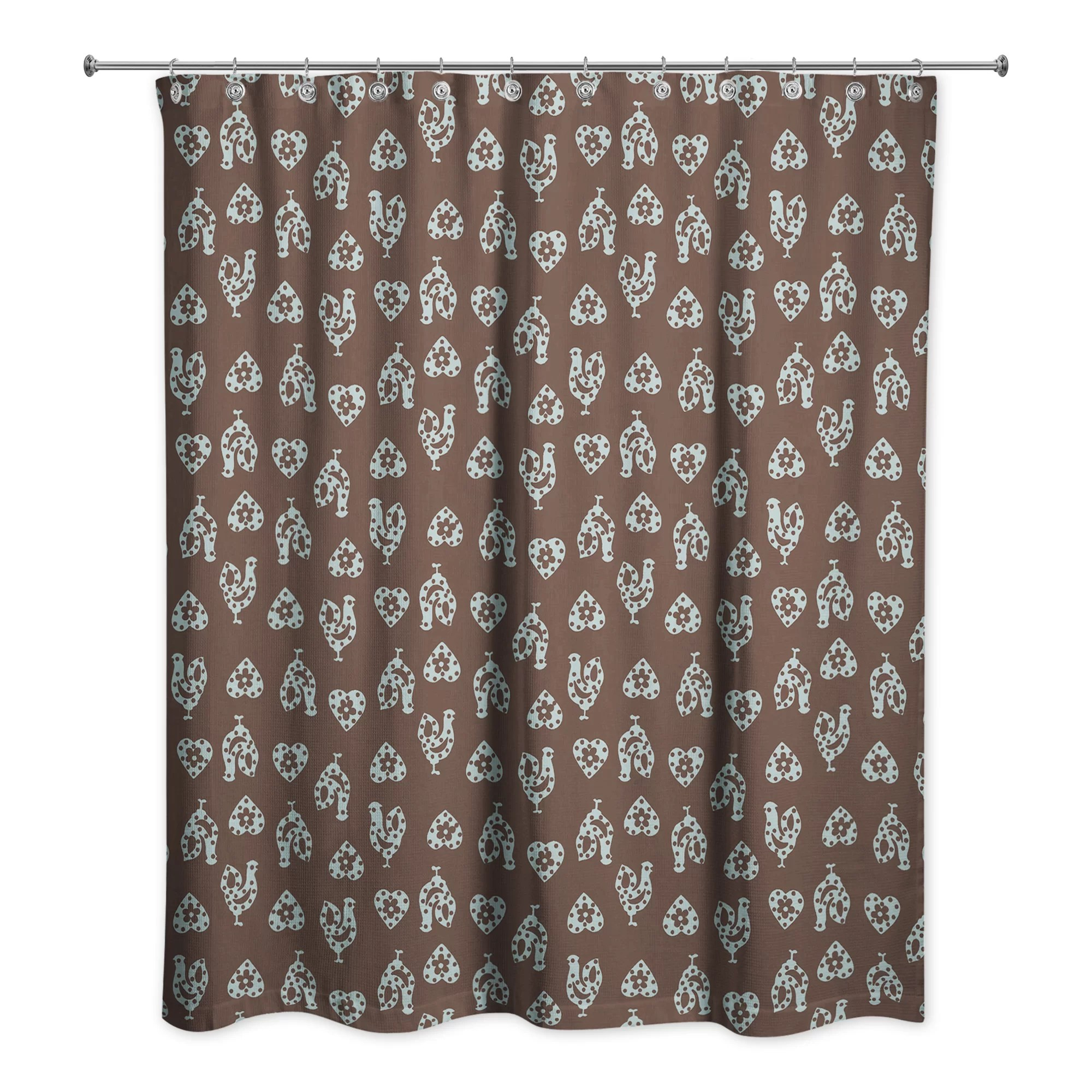 Ariel Shower Curtain Ariel Rooster Single Shower Curtain
