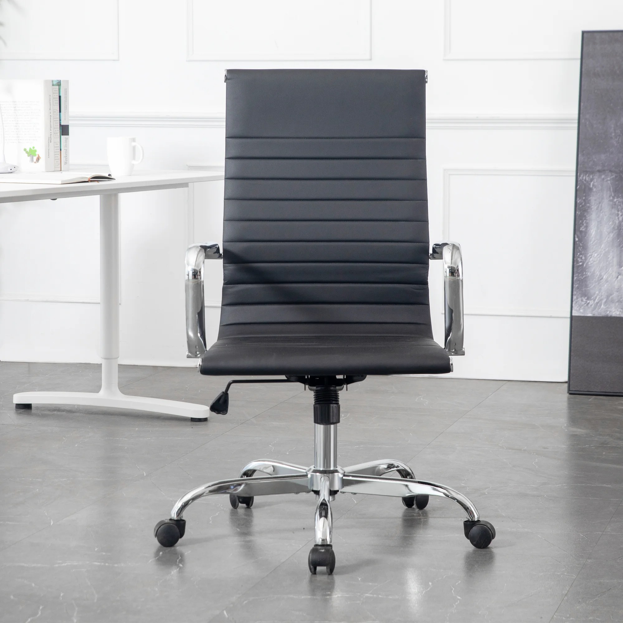 Brayden Studio Ed Pu Leather Conference Chair Wayfair