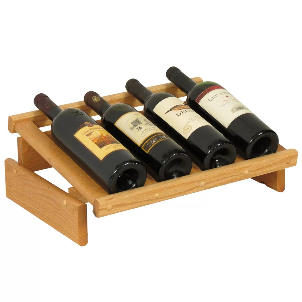 Wooden Bottle Rack Dakota 4 Bottle Tabletop Wine Rack