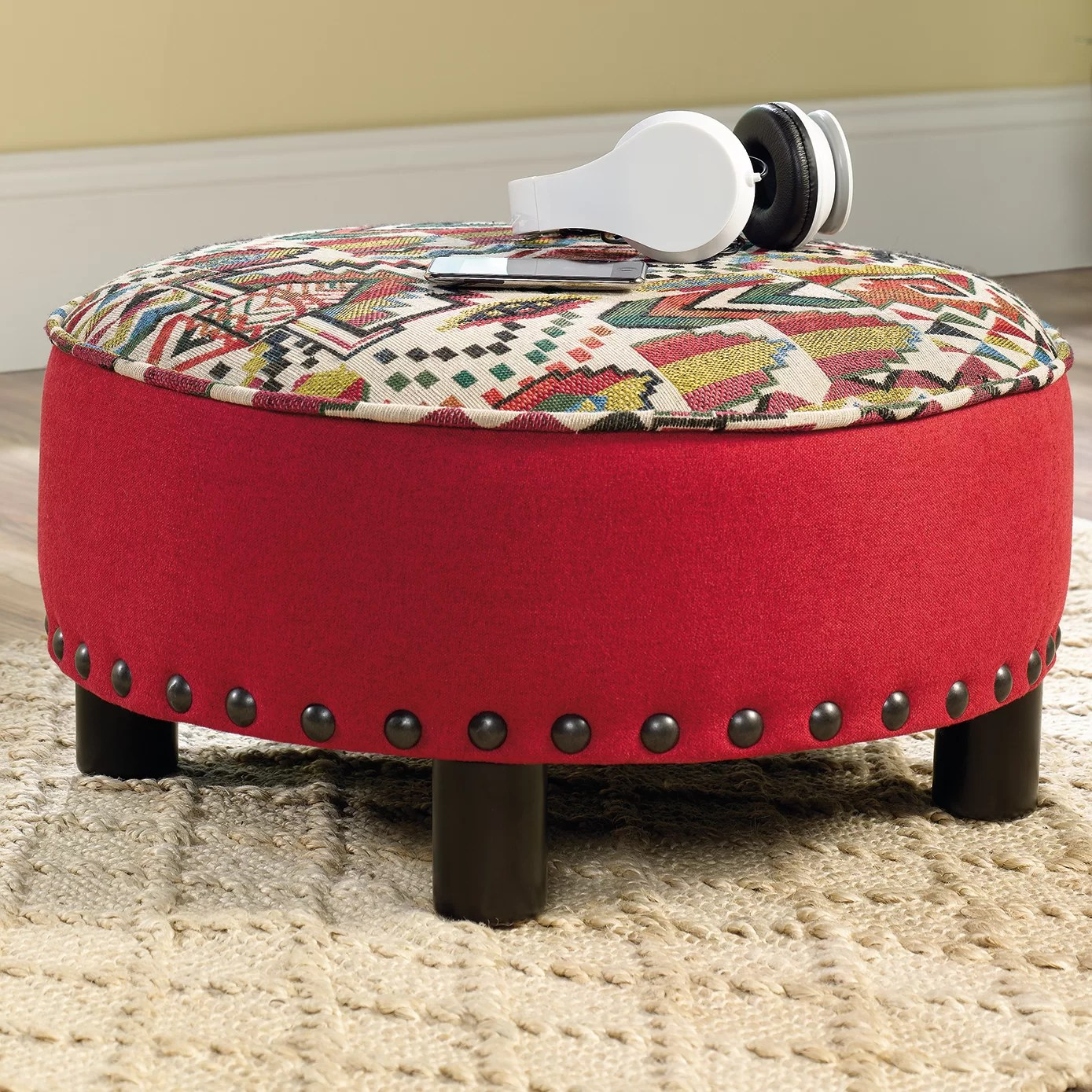 Colorful Ottoman Coffee Table Ryker Cocktail Ottoman