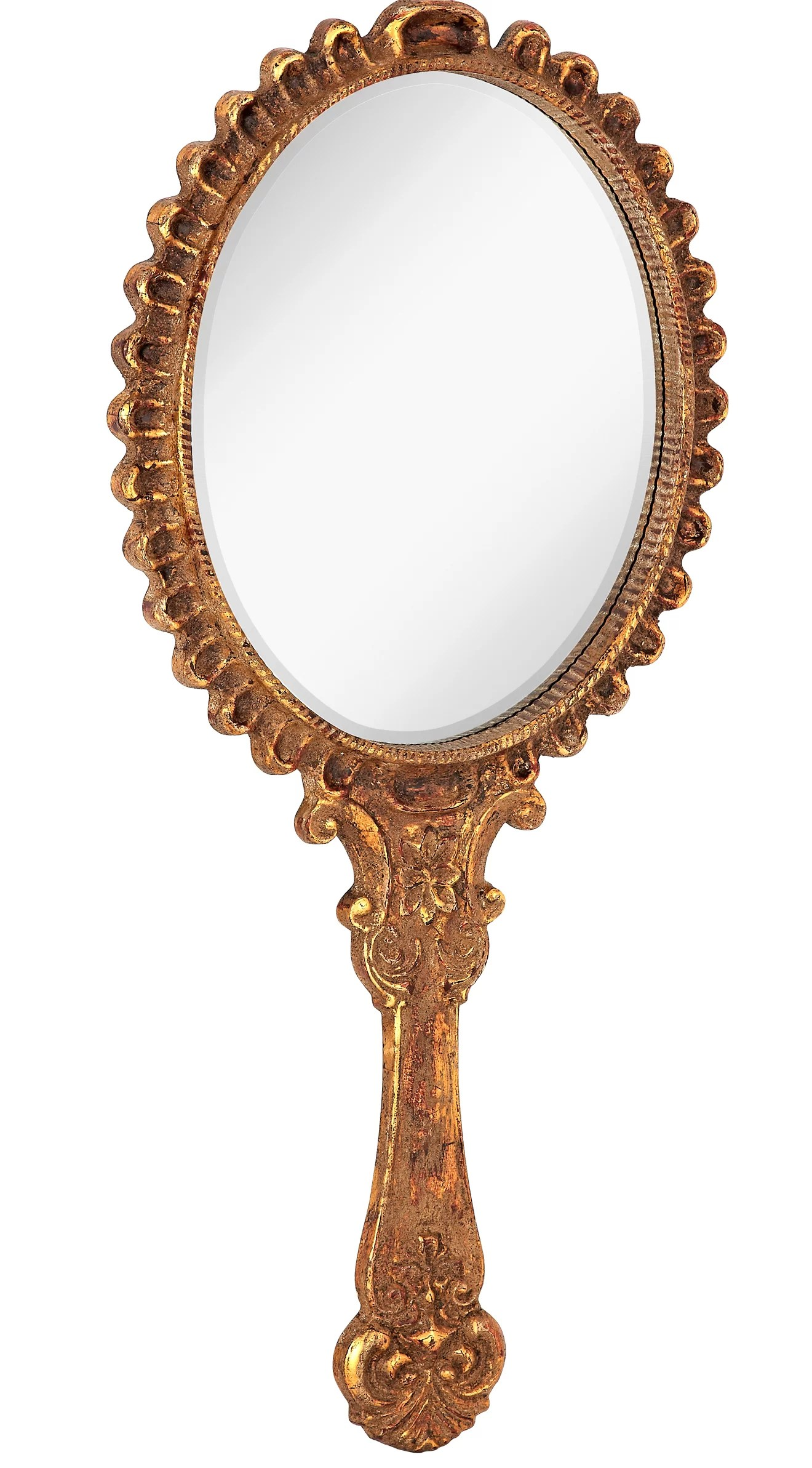 Sun Shaped Mirrors Antique Gold With Rottenstone Hand Mirror Shaped Wall Mirror