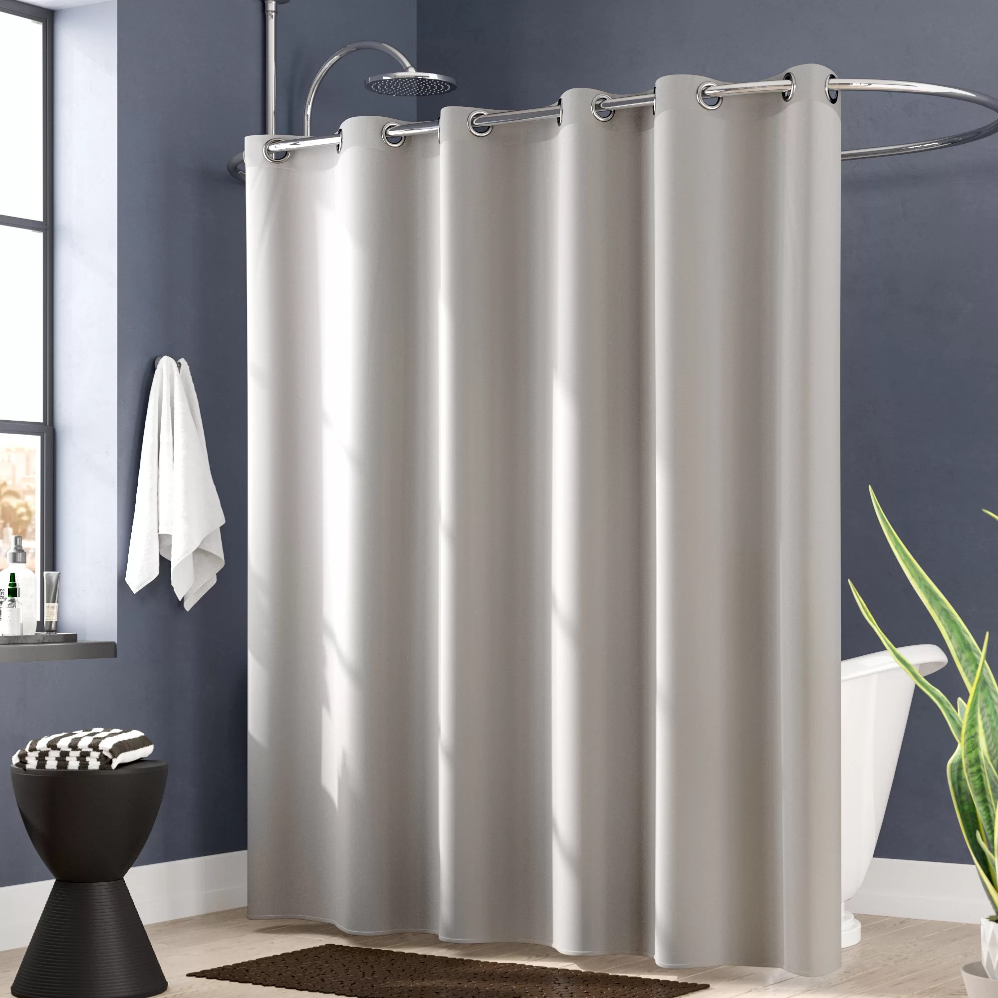 Shower Curtains For Less Jethro Solid Shower Curtain