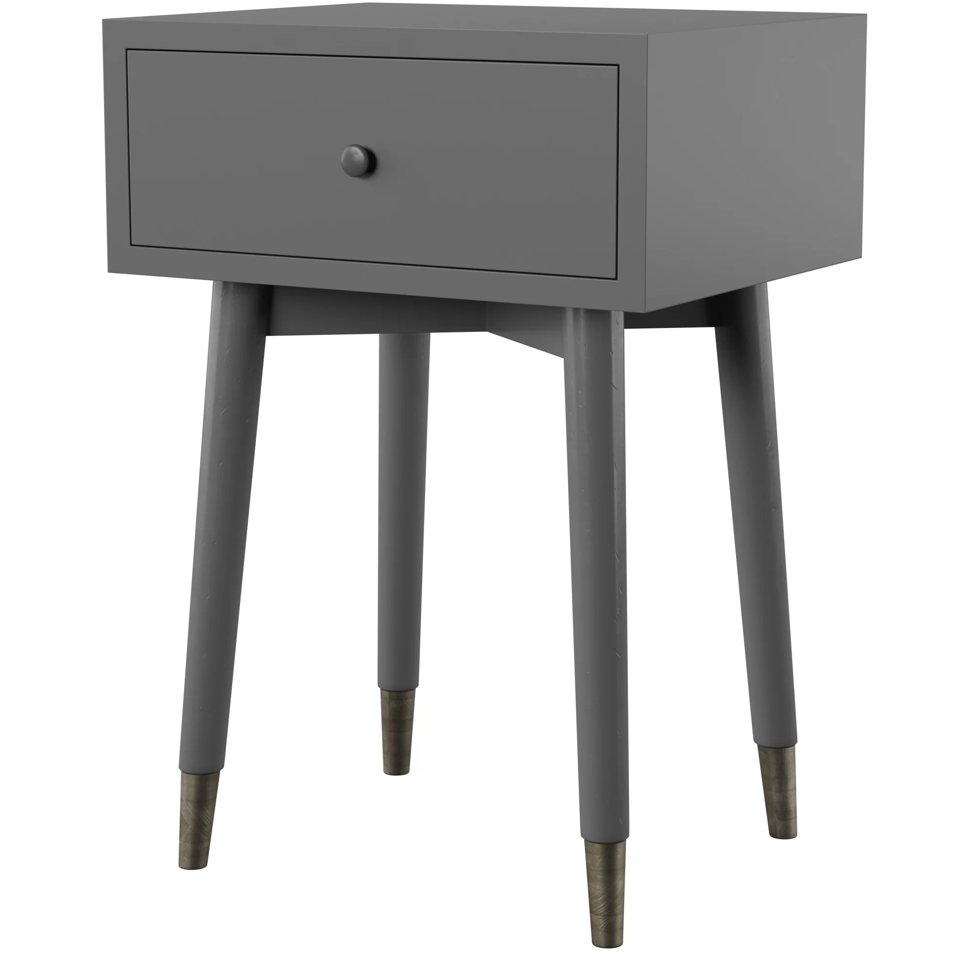 Black End Tables With Drawer Pellston End Table With Storage