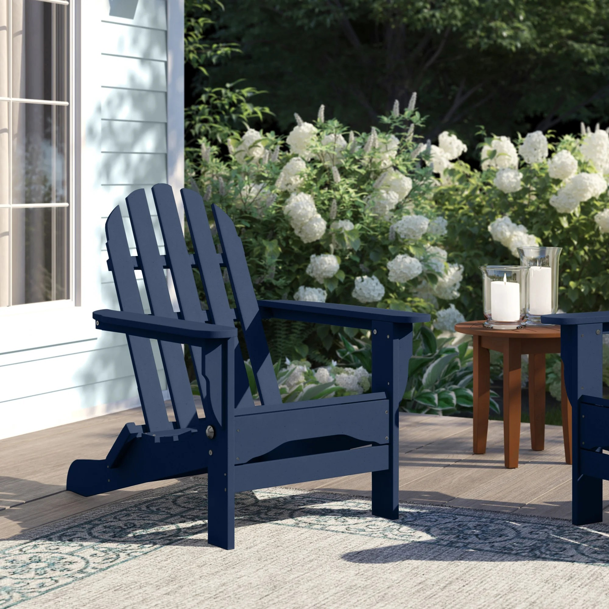 Blue Plastic Adirondack Chairs You Ll Love In 2021 Wayfair - Garden Furniture Clearance Tickled Trout