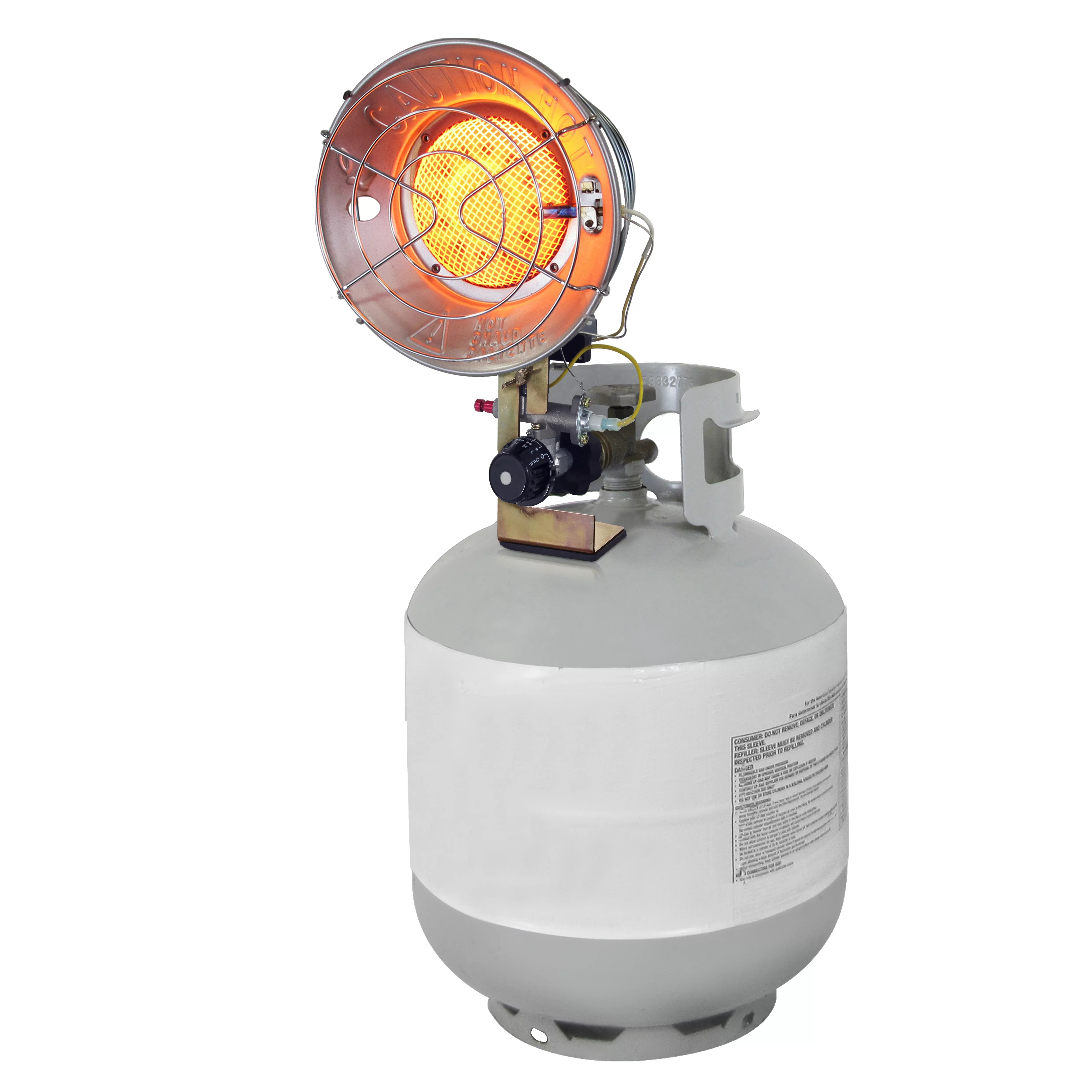 Radiant Heater 15 000 Btu Portable Propane Radiant Tank Top Heater With Tip Over Safety Switch