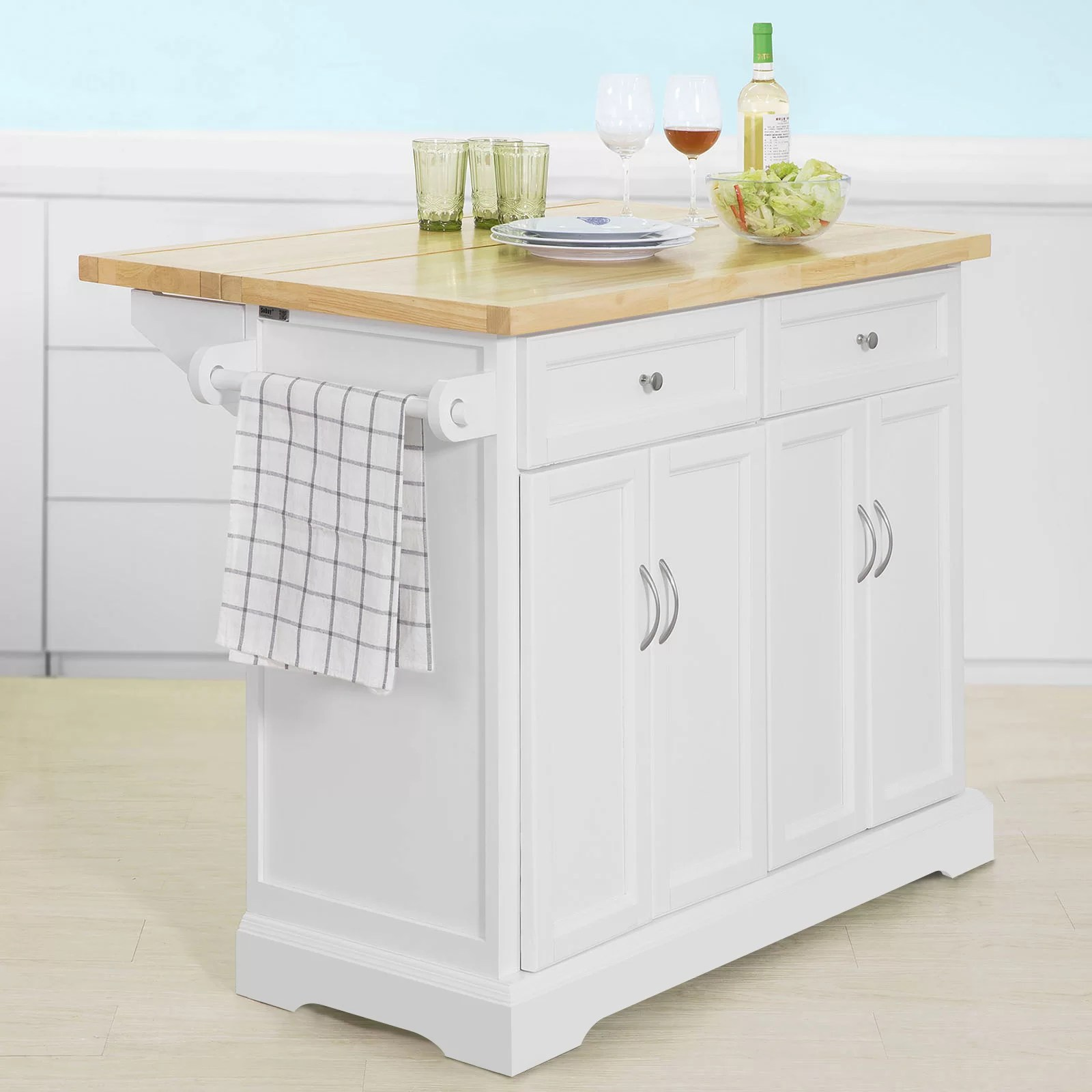 Mobile Kücheninsel August Grove Mitzi Kitchen Island & Reviews | Wayfair.co.uk