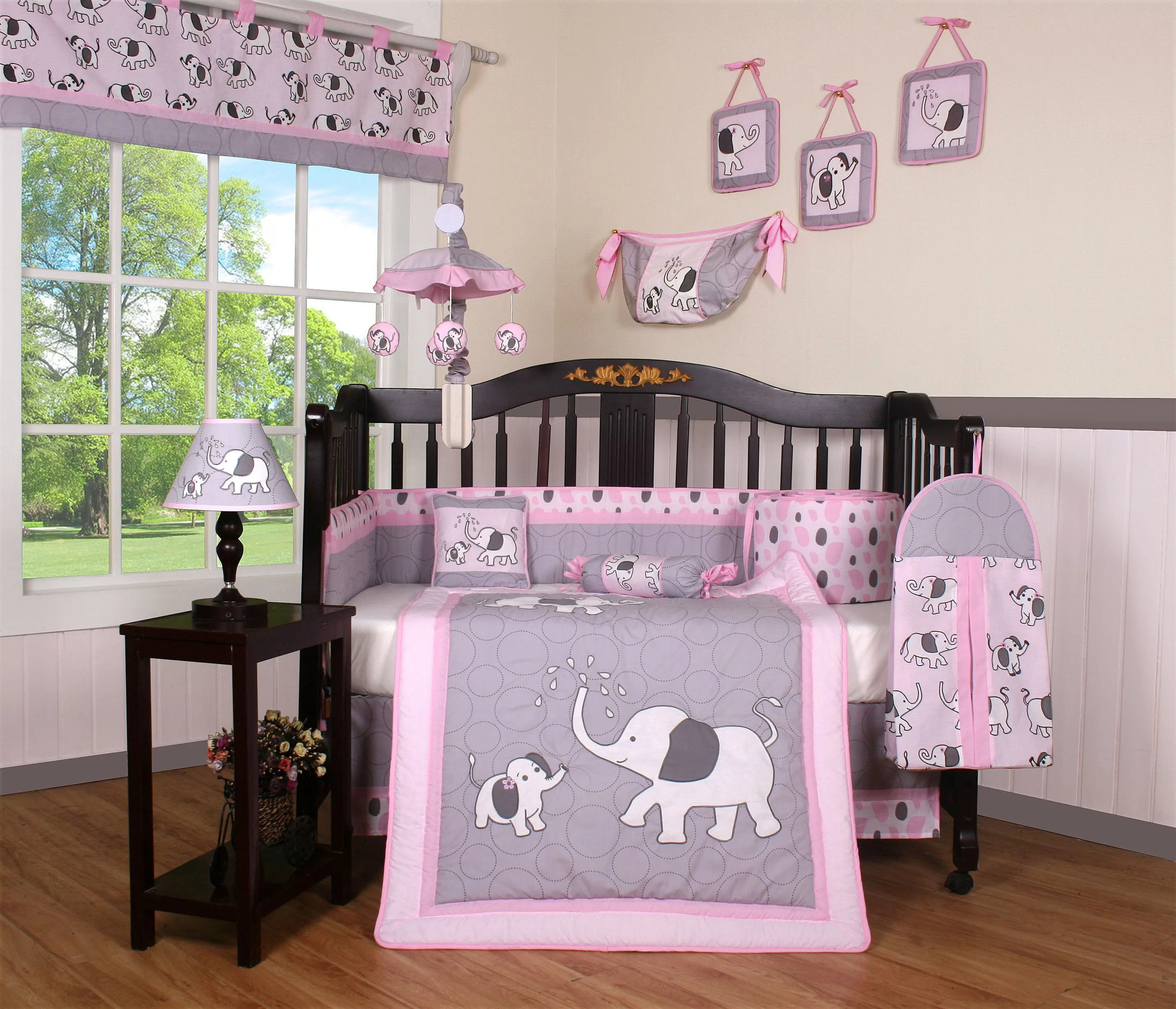 Full Crib Bedding Sets Elephant Dynasty Boutique 13 Piece Crib Bedding Set