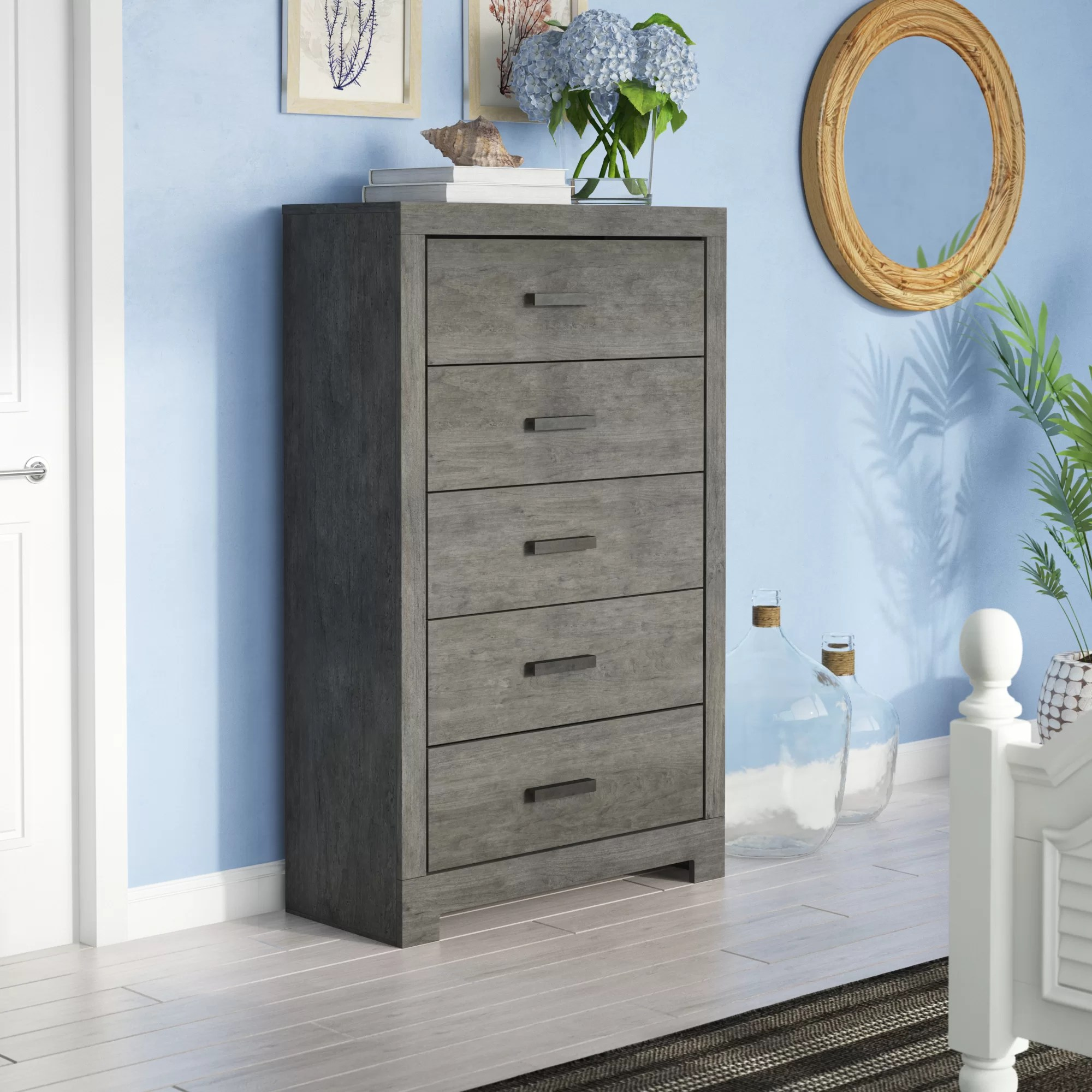 Beachcrest Home Rosen 5 Drawer Chest Reviews Wayfair