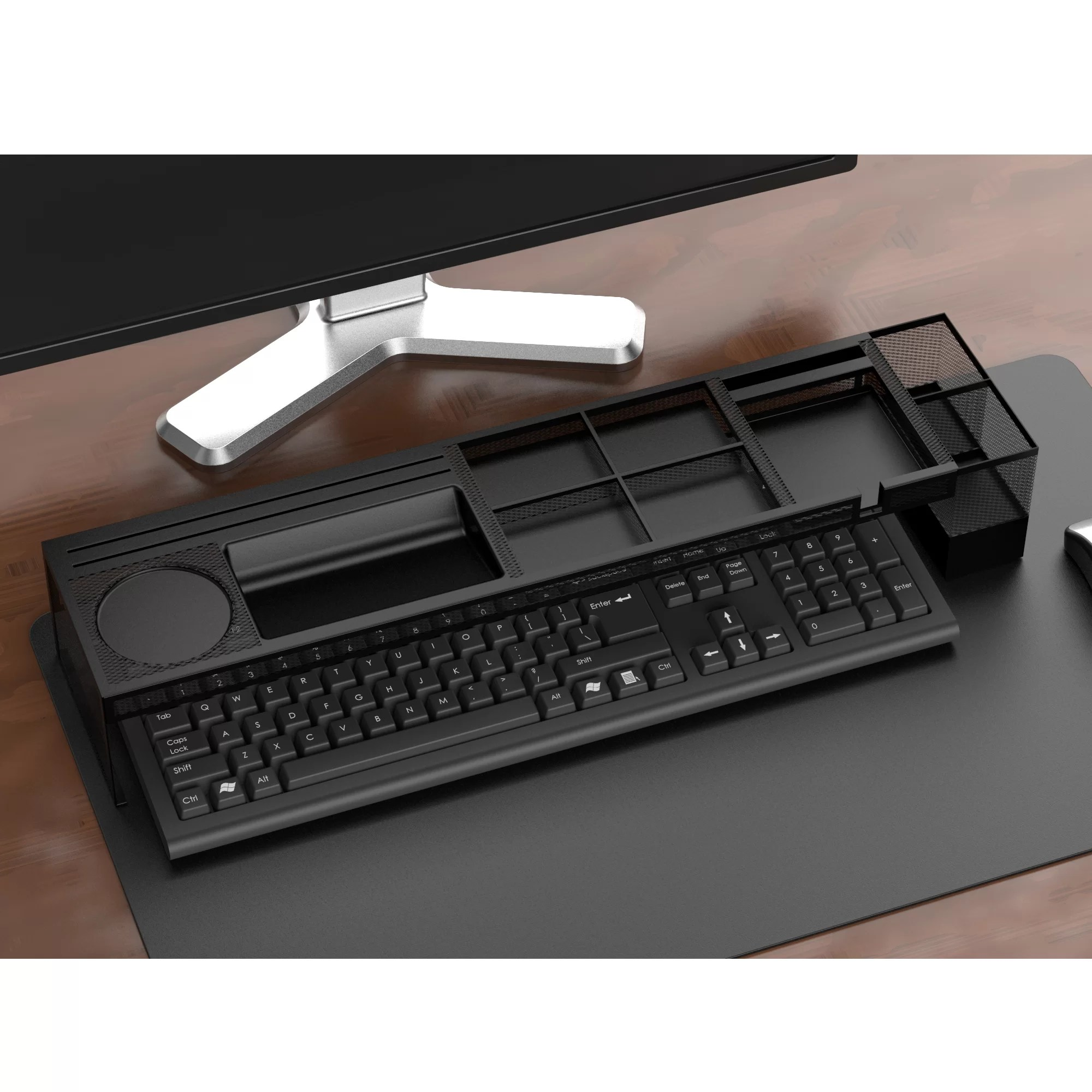 Matching Office Desk Accessories Axel Metal Desk Organizer With Charging Station