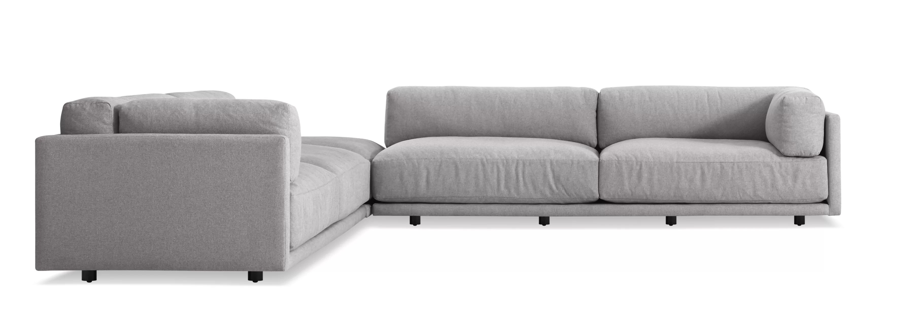 L Sofa Sunday Backless L Sectional Sofa