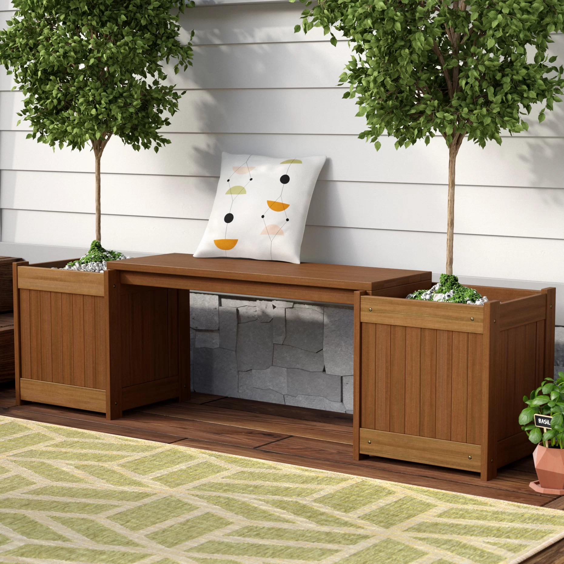 Planting Tables For Sale Arianna Rectangular Wood Planter Bench
