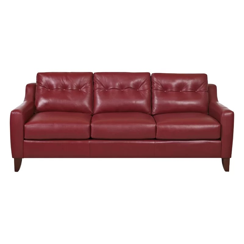 Trent Austin Design Levell Leather Sofa Reviews Wayfair