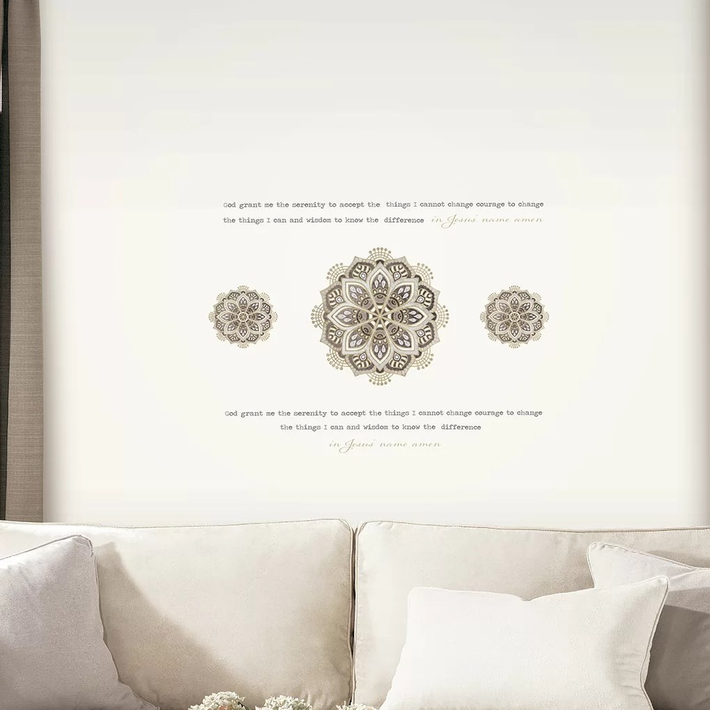 Sofa Easy Lyrics Medallion Topography Wall Decal