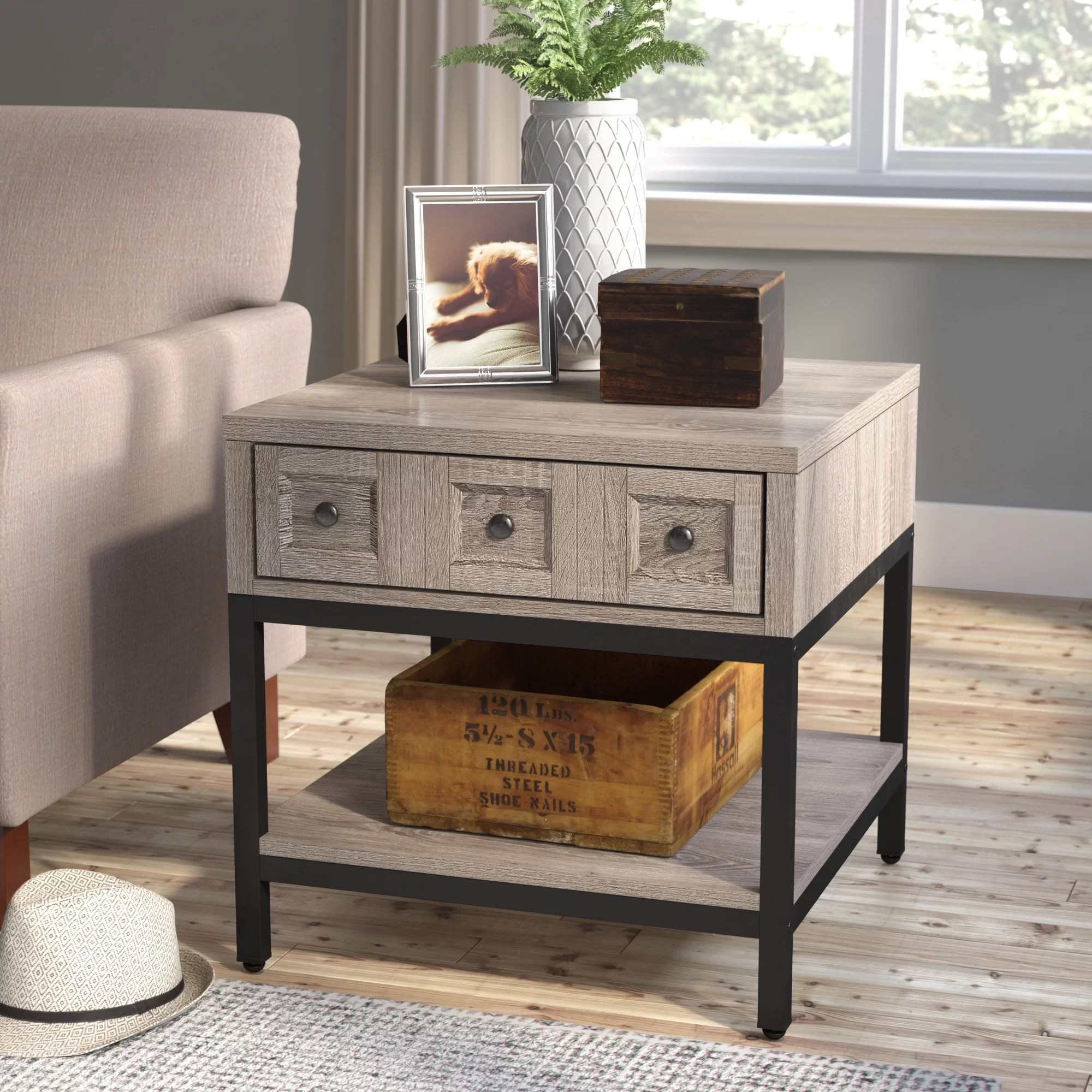 Coffee And End Tables With Storage Omar End Table With Storage