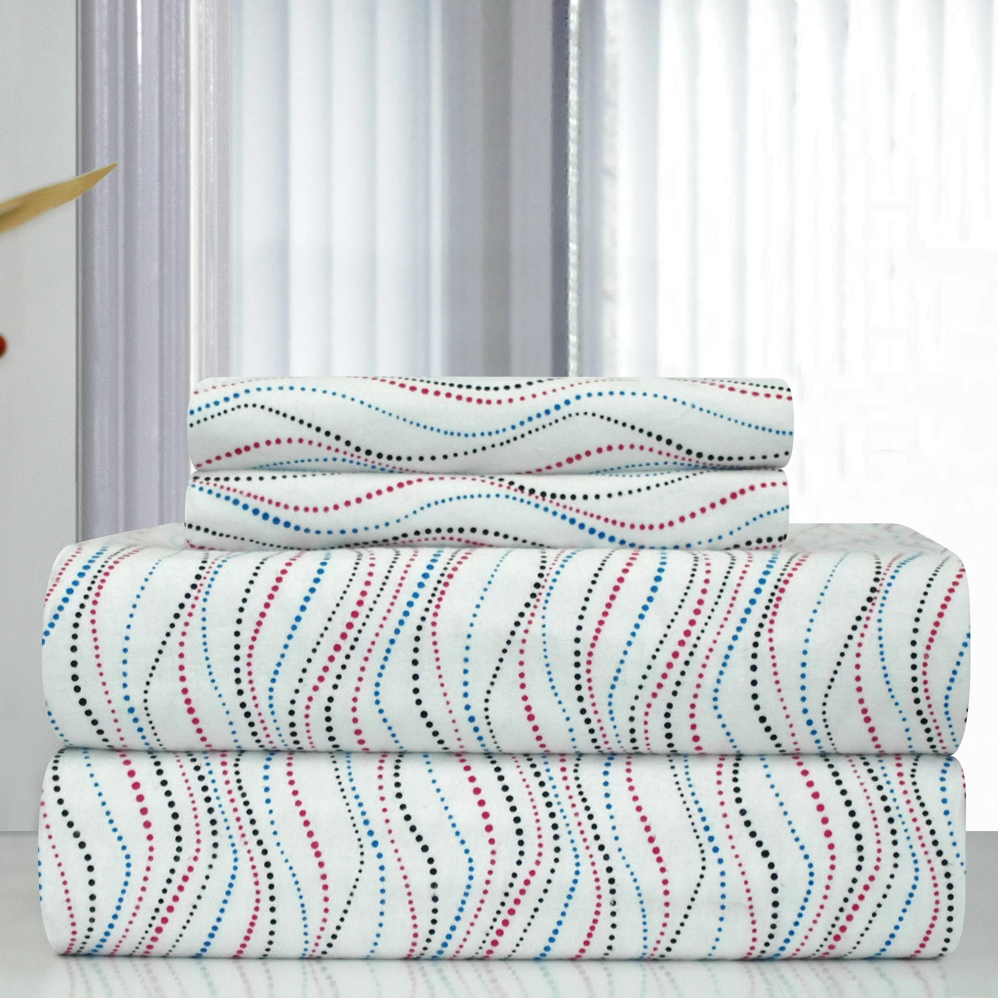 Printed Sheet Sets Heavy Weight Metro Printed Flannel Sheet Set