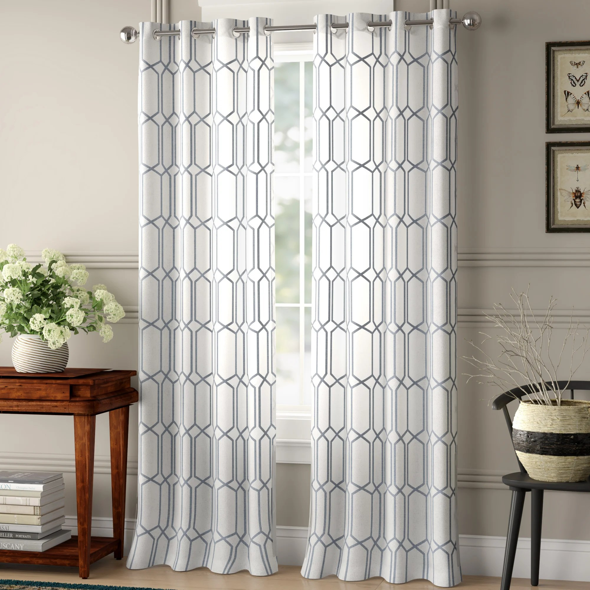 Farmhouse Rustic Thermal Insulation Curtains Drapes Birch Lane