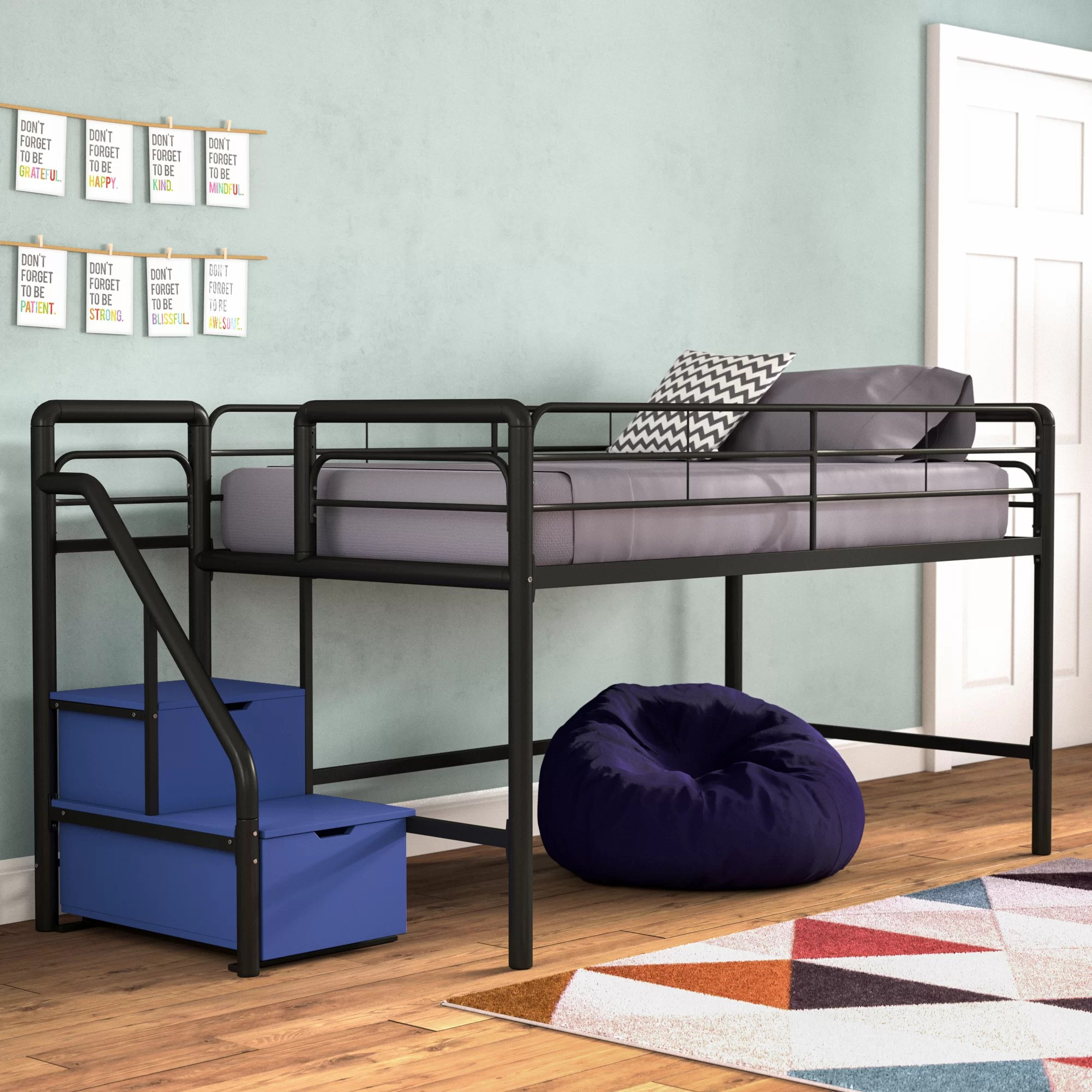 Snooze Bunk Beds Bewley Junior Twin Loft Bed With Storage
