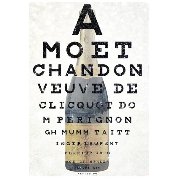 Champagne Eye Chart Wayfair