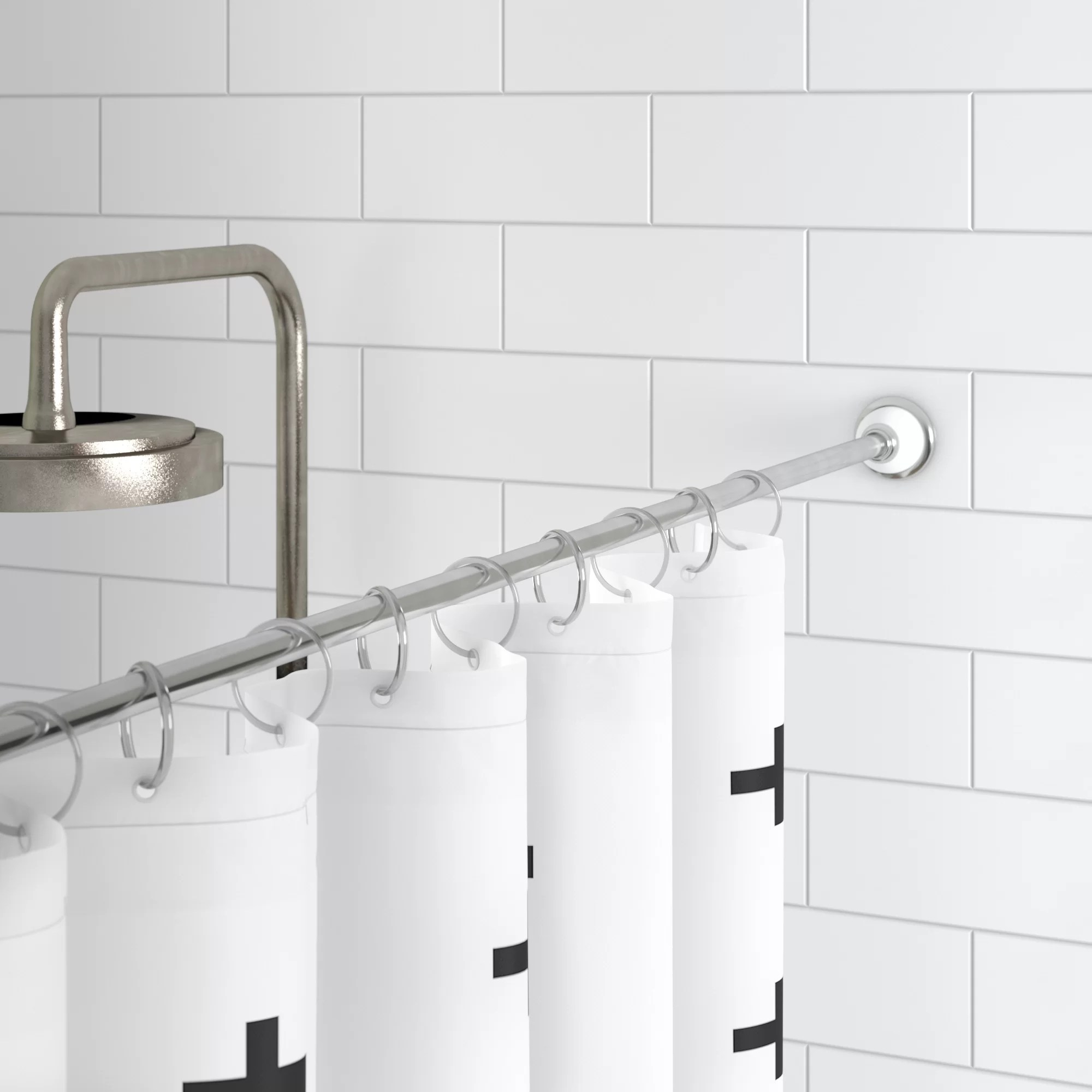 Unique Shower Curtain Rods Duff 87