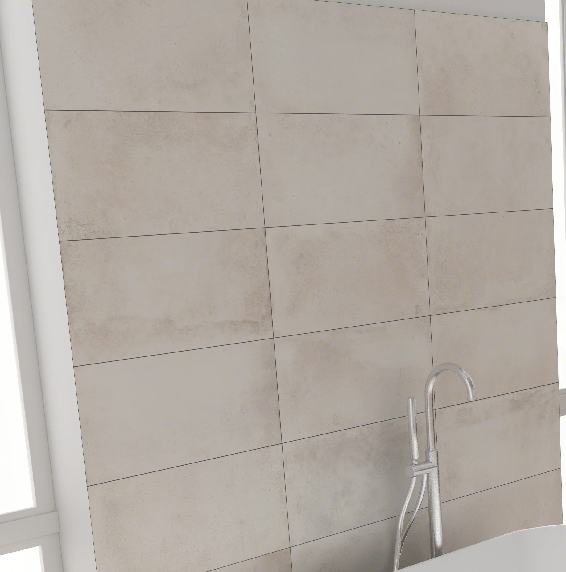 12x24 Tile Shower Capella Talc 12