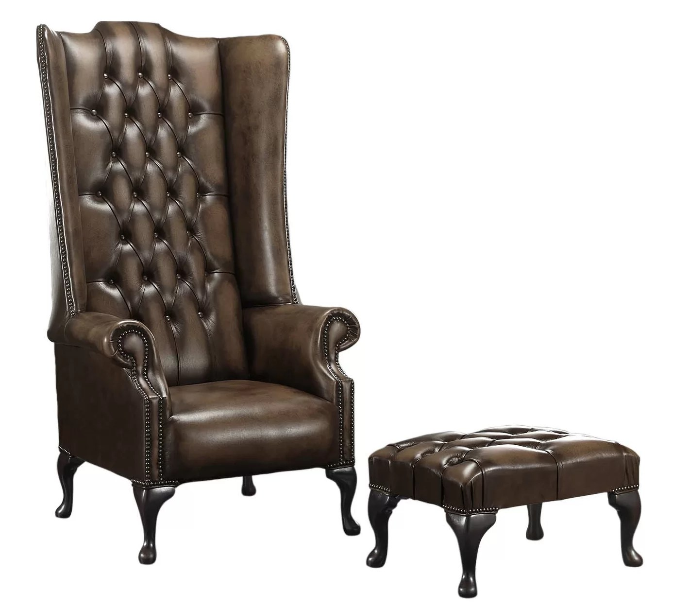 Chesterfield Sessel Chesterfield Sessel Barlet Mit Hocker