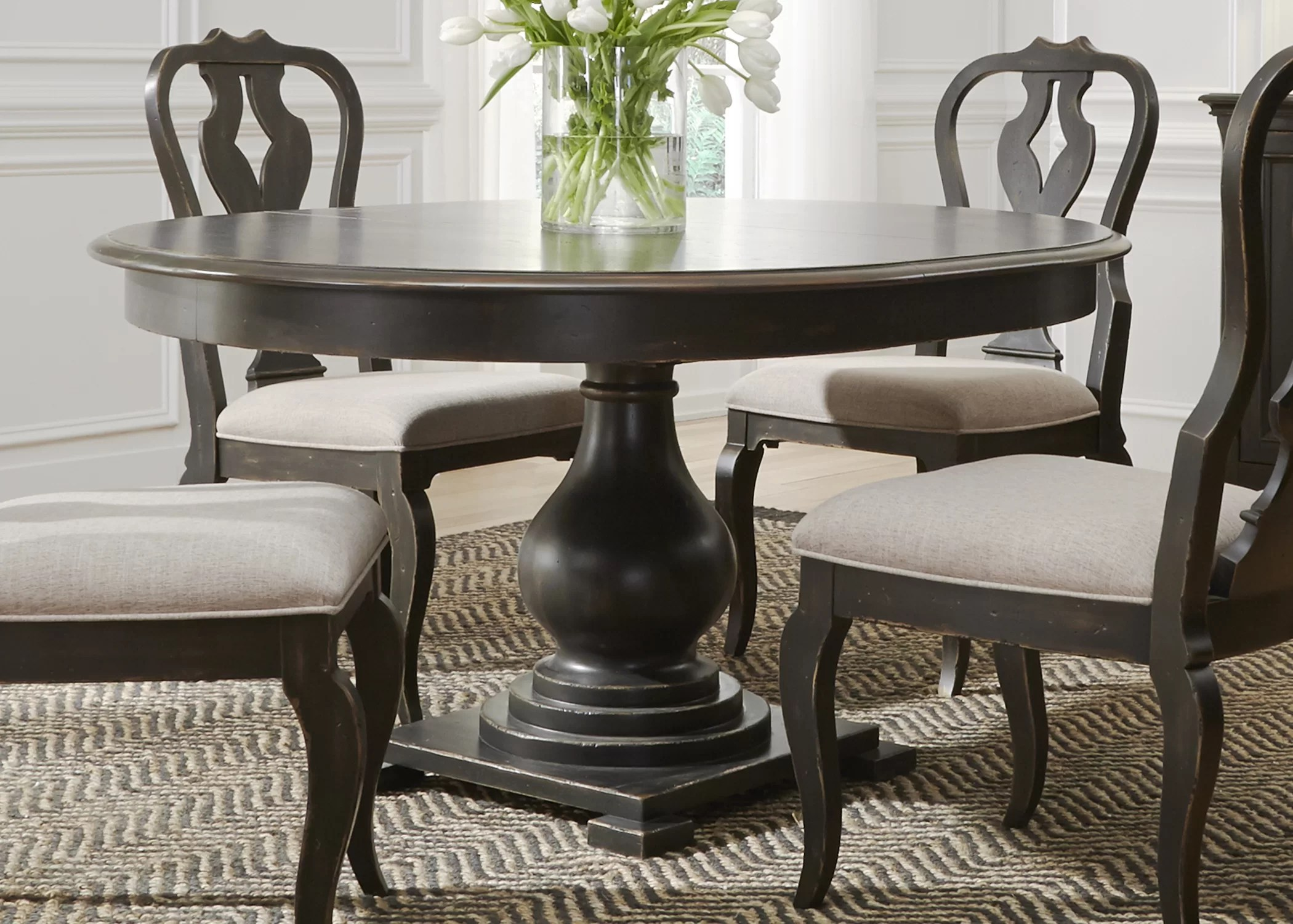Classic Table Shapes Darya Solid Wood Dining Table