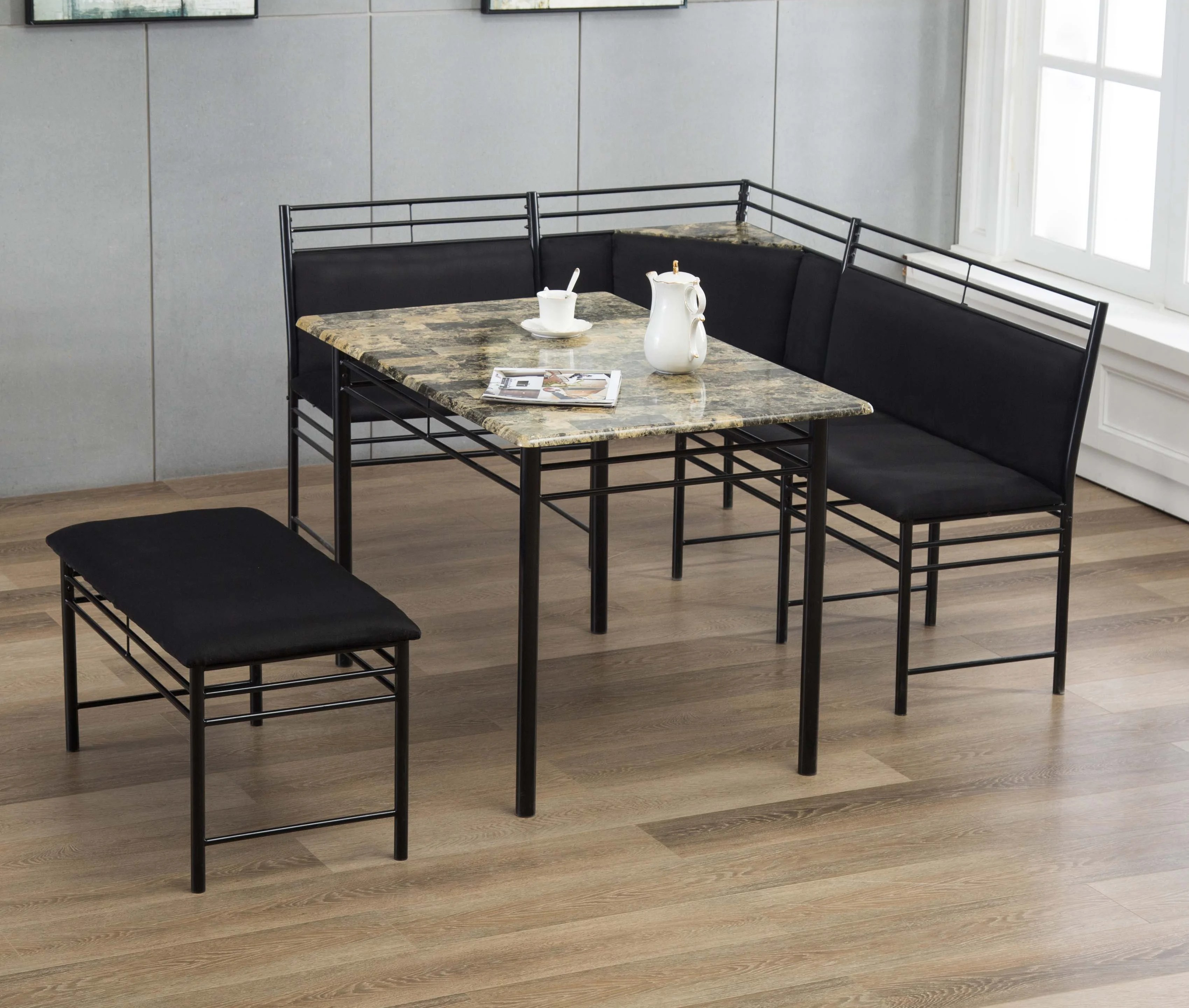 Winston Porter Tyrell 3 Piece Breakfast Nook Dining Set Reviews Wayfair