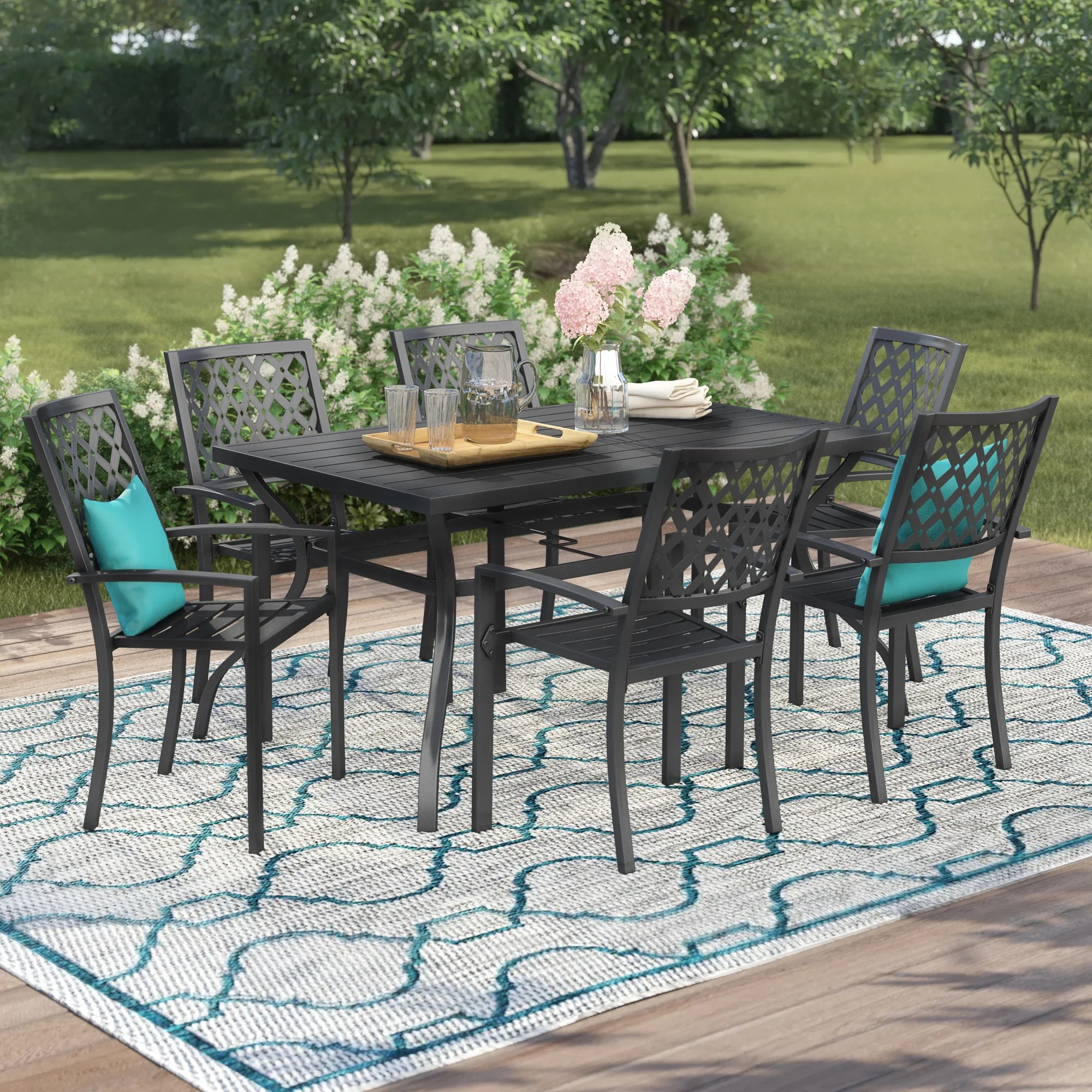 Six Person Patio Dining Sets You Ll Love In 2021 Wayfair - Garden Furniture Clearance Ireland