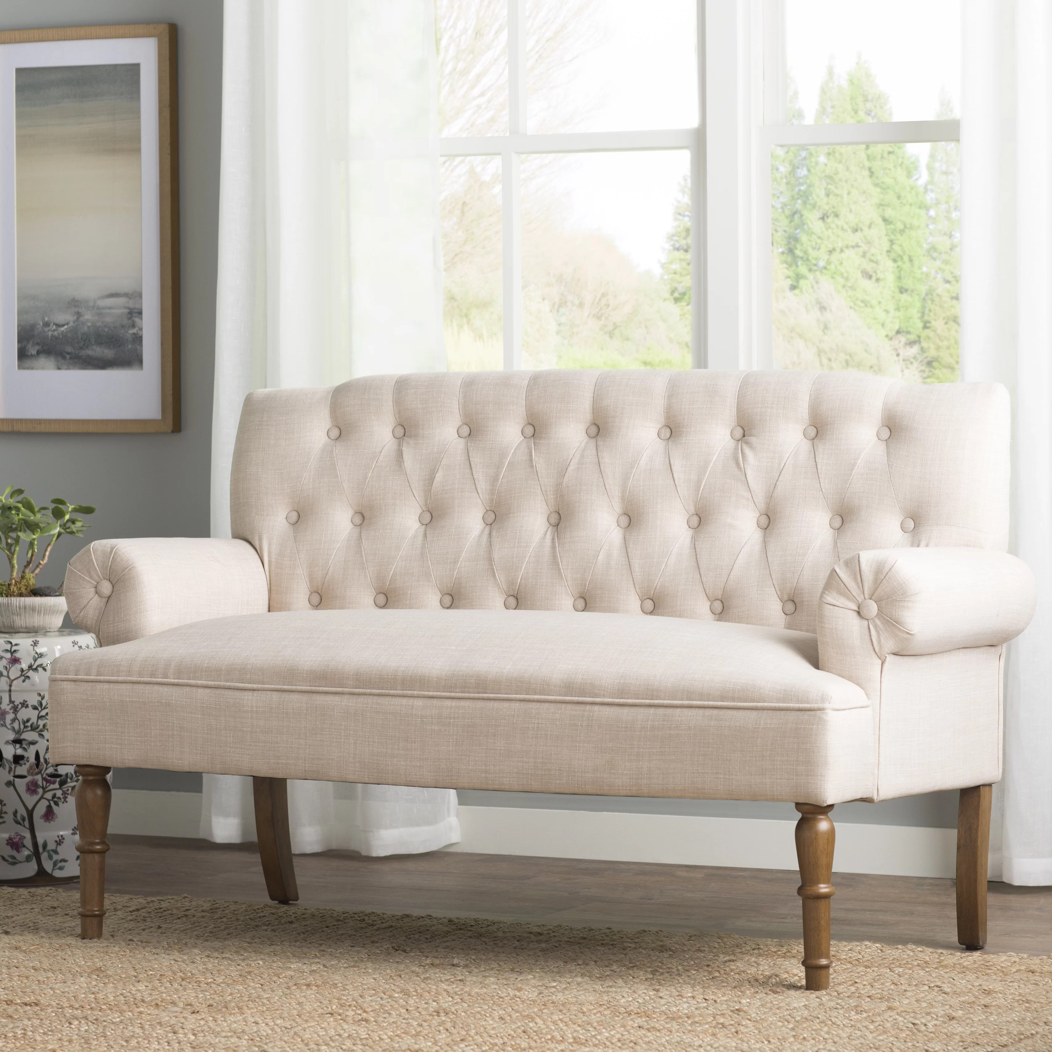 Sofa Queen Anne Queen Anne Loveseat Wayfair