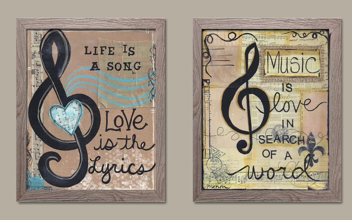 Sofa Easy Lyrics Life Is A Song Love Is The Lyrics And Music Is Love In Search Of A Word 2 Piece Framed Print Set