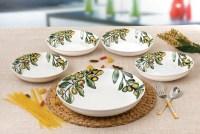 Lorren Home Trends 5 Piece Olive Design Porcelain Pasta ...